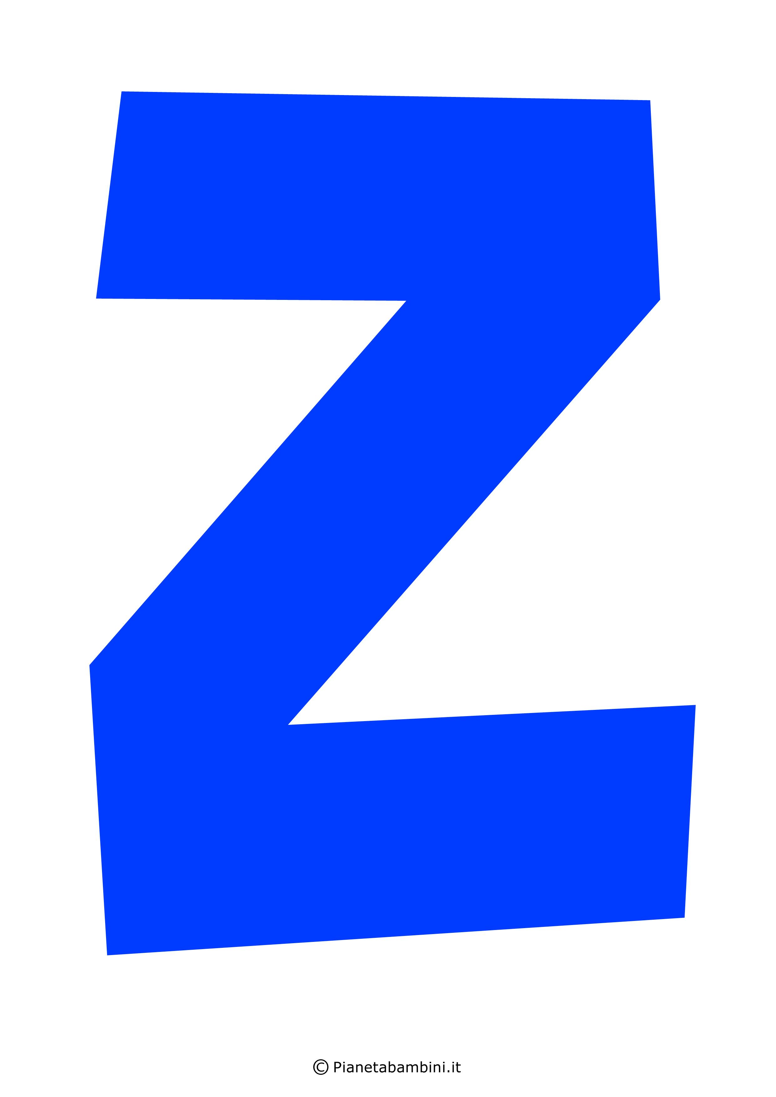 Lettera-Z-Blu