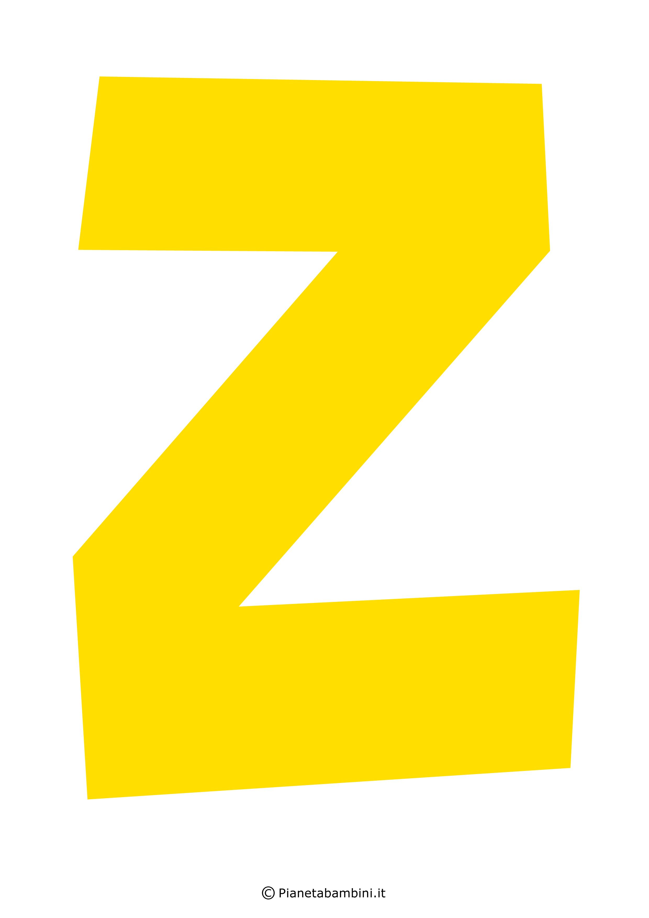Lettera-Z-Gialla