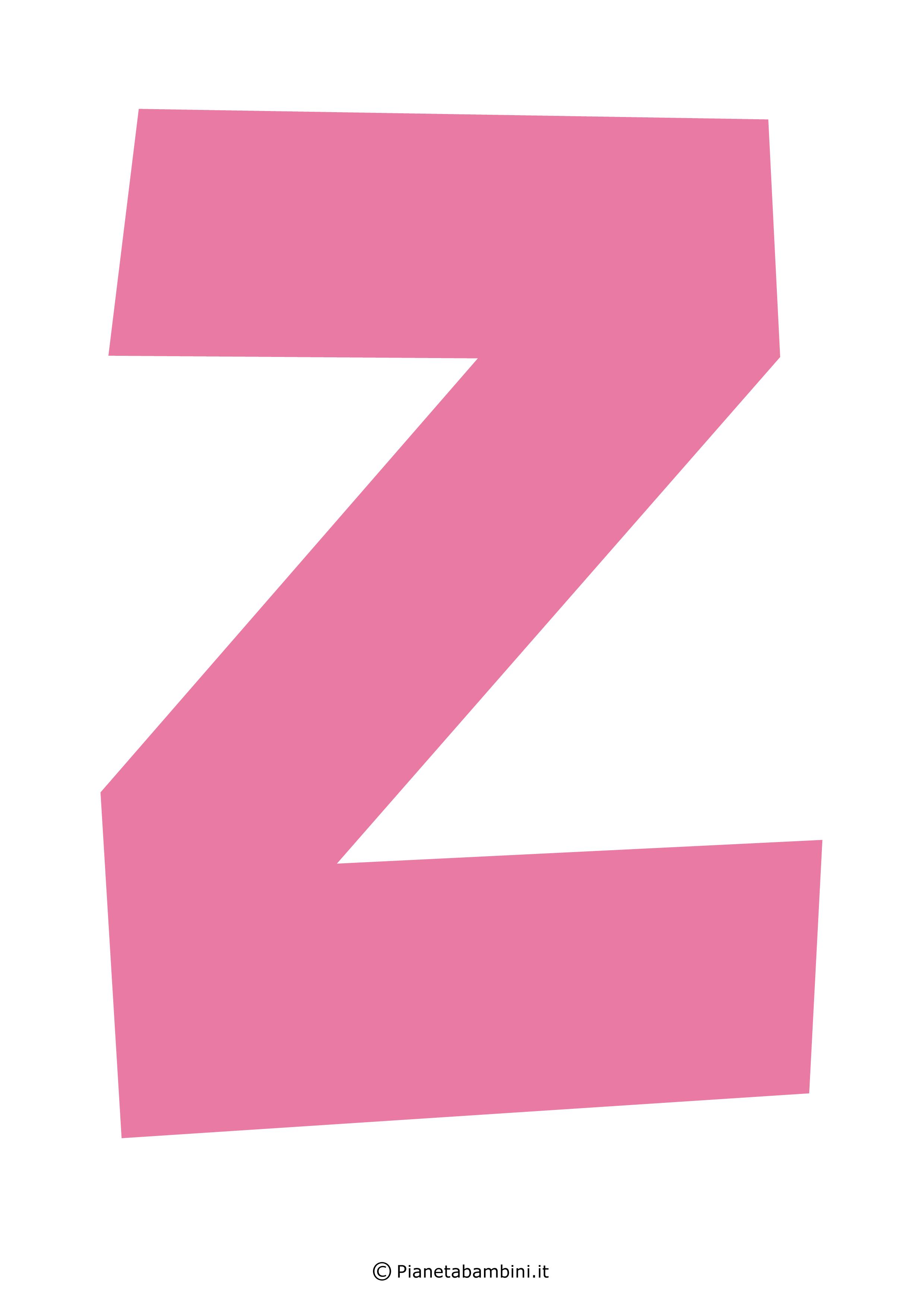 Lettera-Z-Rosa