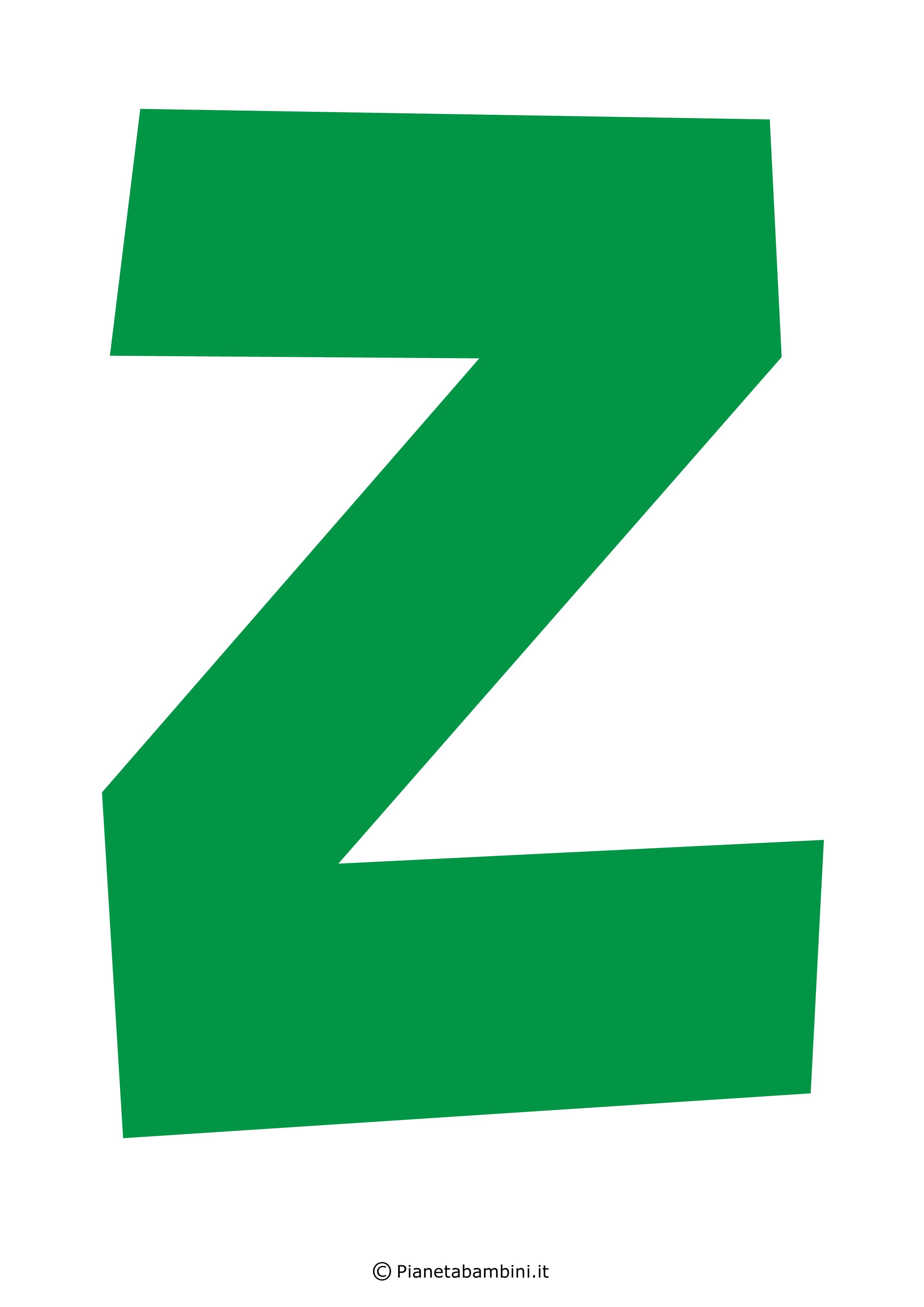 Lettera-Z-Verde