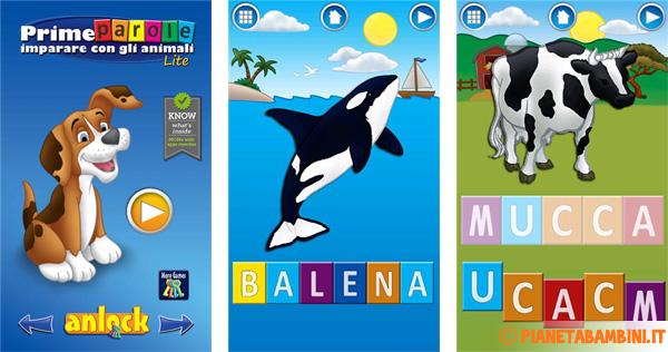 Immagine dell'app per bambini Prime Parole