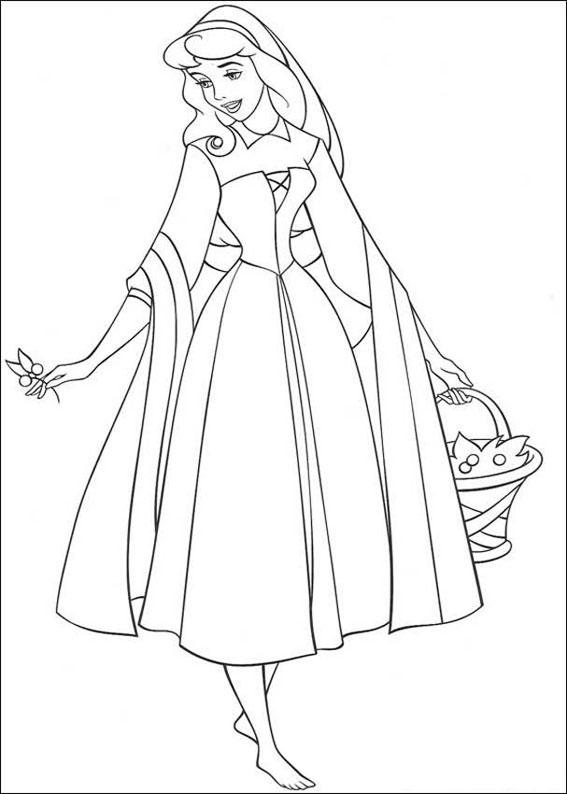 33 disegni della principessa aurora da colorare for Colorare le rose