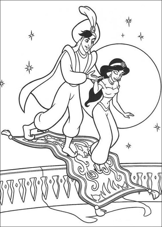 disegni di jasmine e aladdin da stampare singolarmente