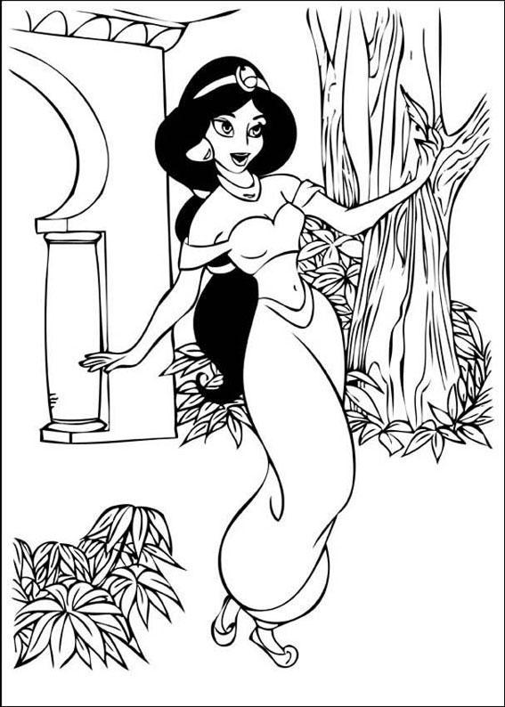 Abu Aladdin Kleurplaat 36 Disegni Della Principessa Jasmine E Aladdin Da Colorare