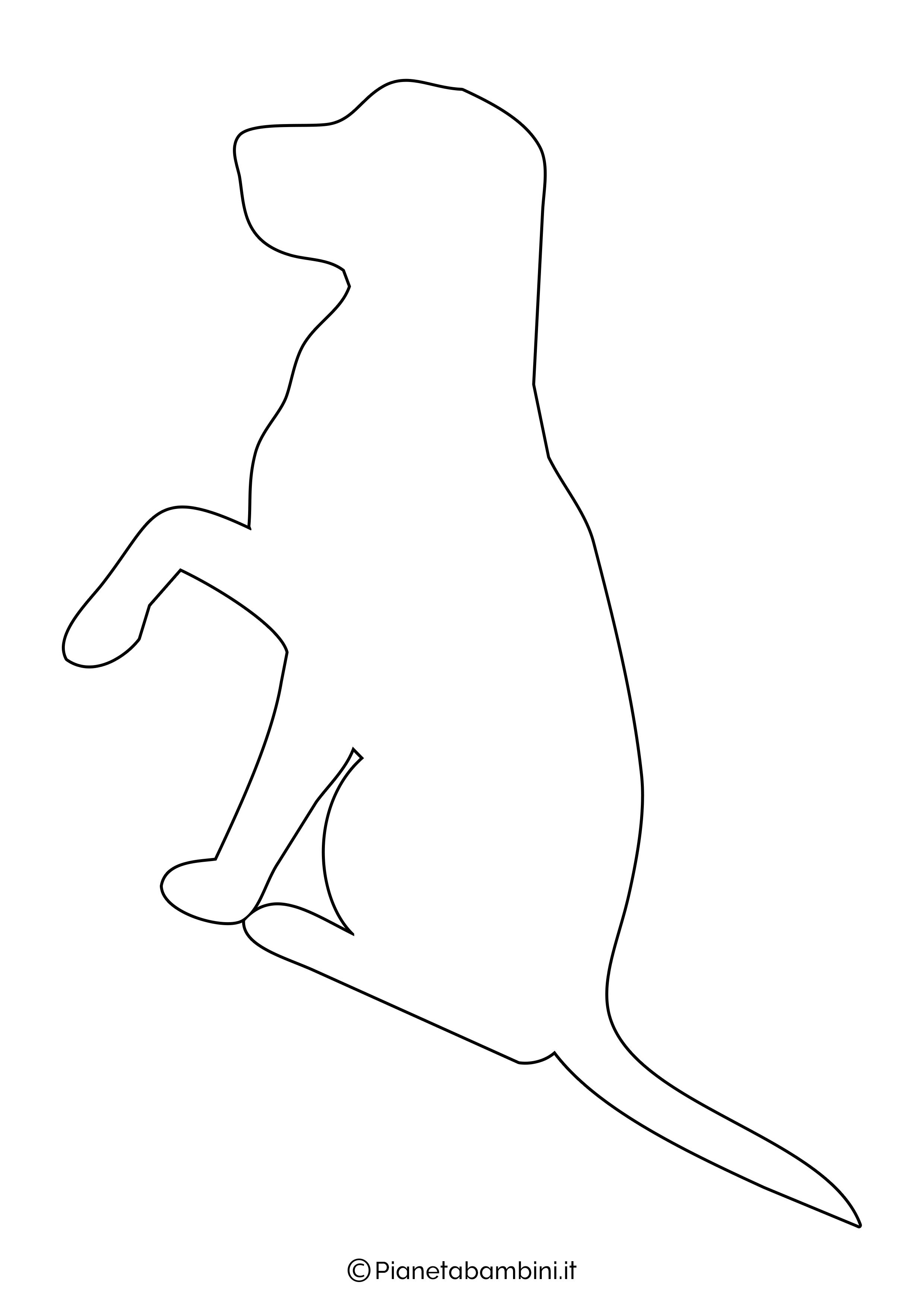 Sagoma di cane grande da ritagliare 1