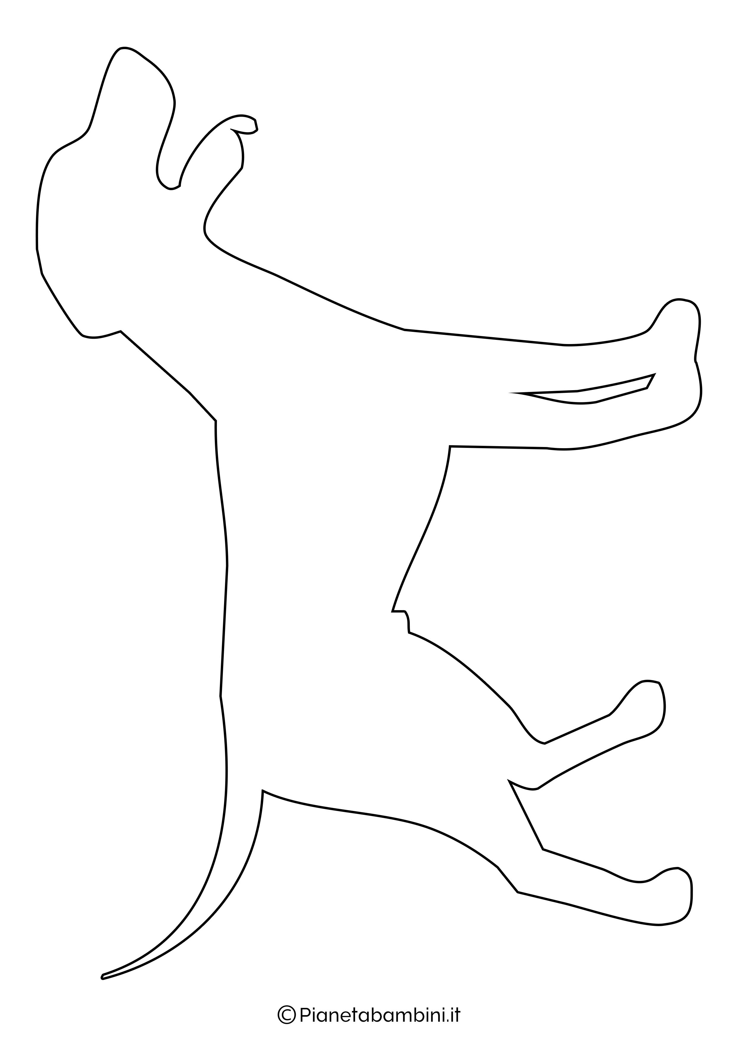 Sagoma di cane grande da ritagliare 2