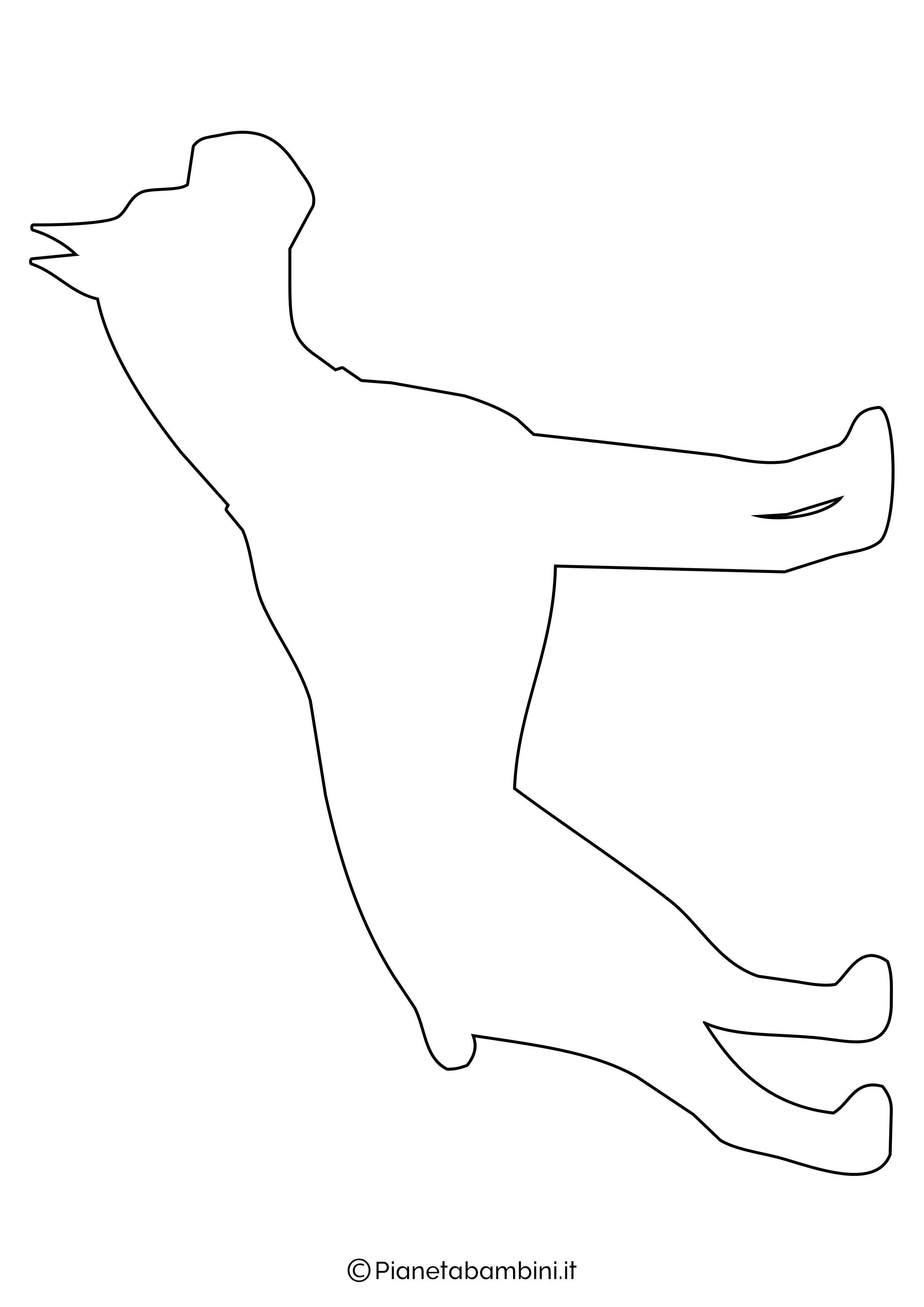 Sagoma di cane grande da ritagliare 3