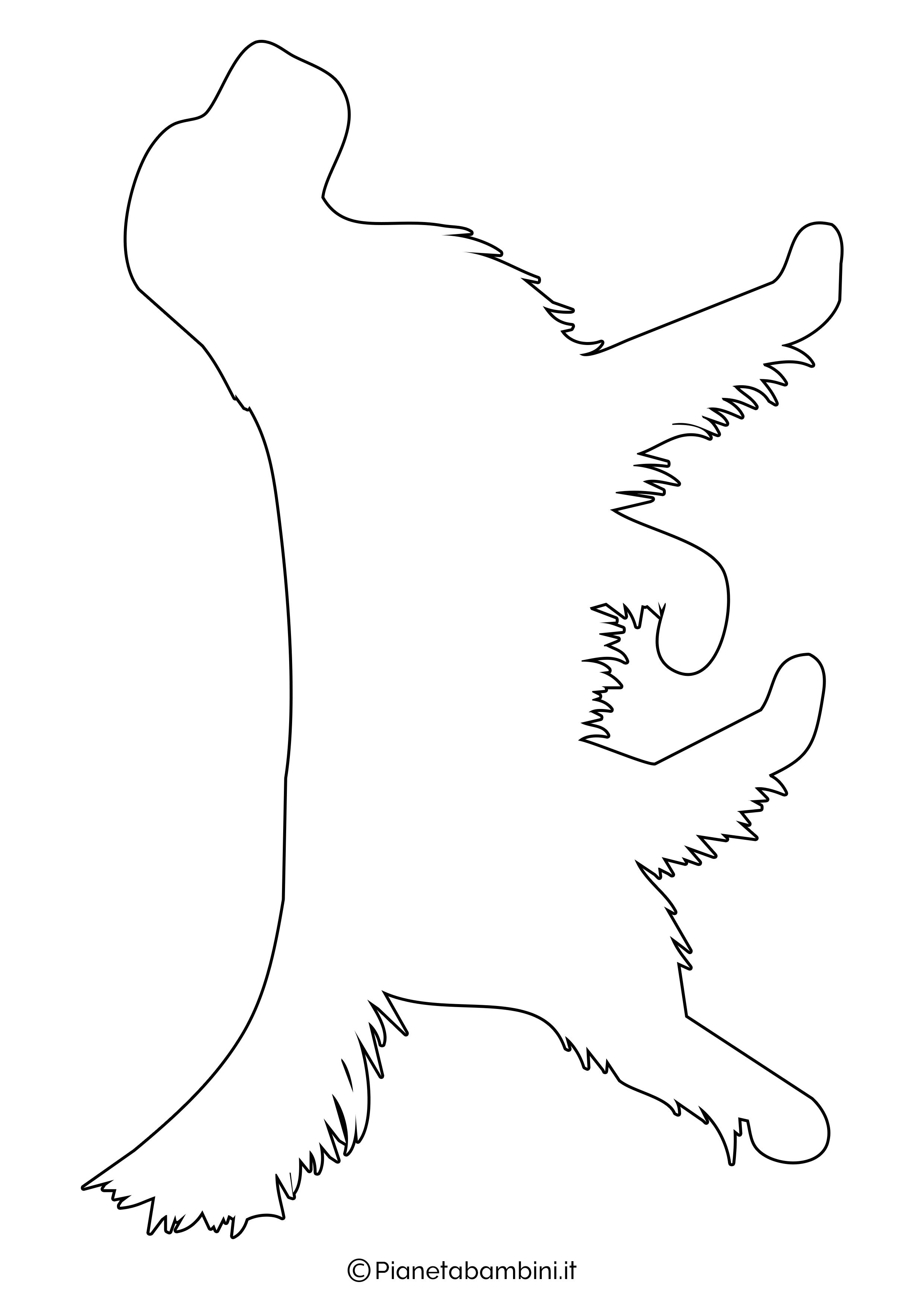 Sagoma di cane grande da ritagliare 4