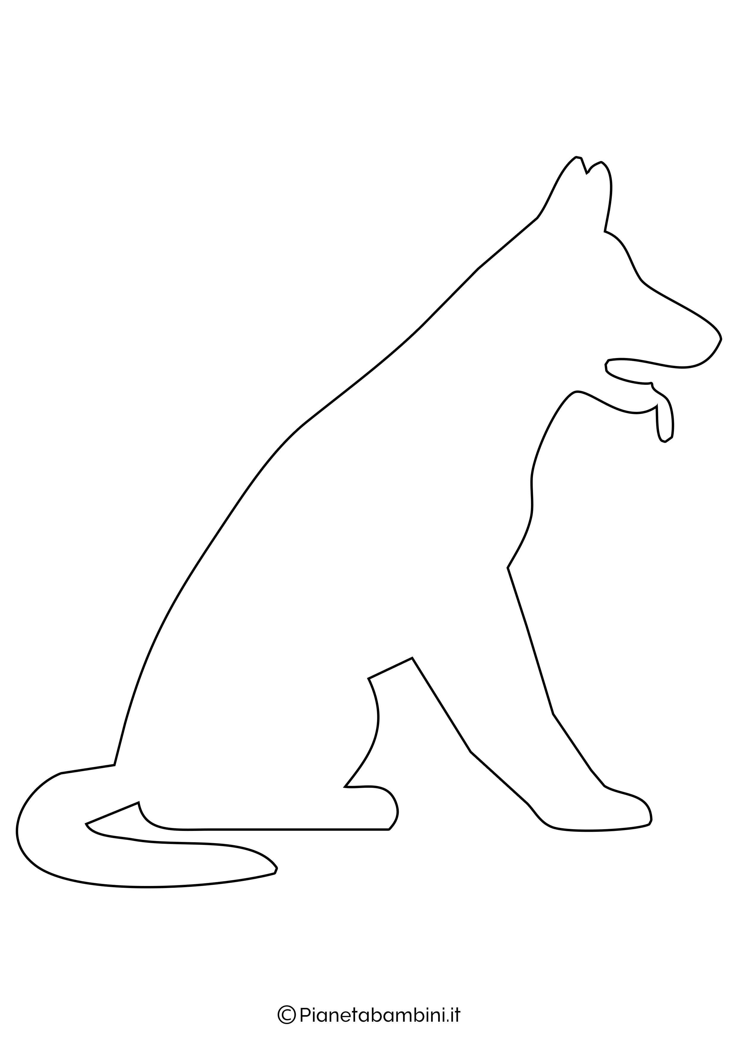 Sagoma di cane grande da ritagliare 5