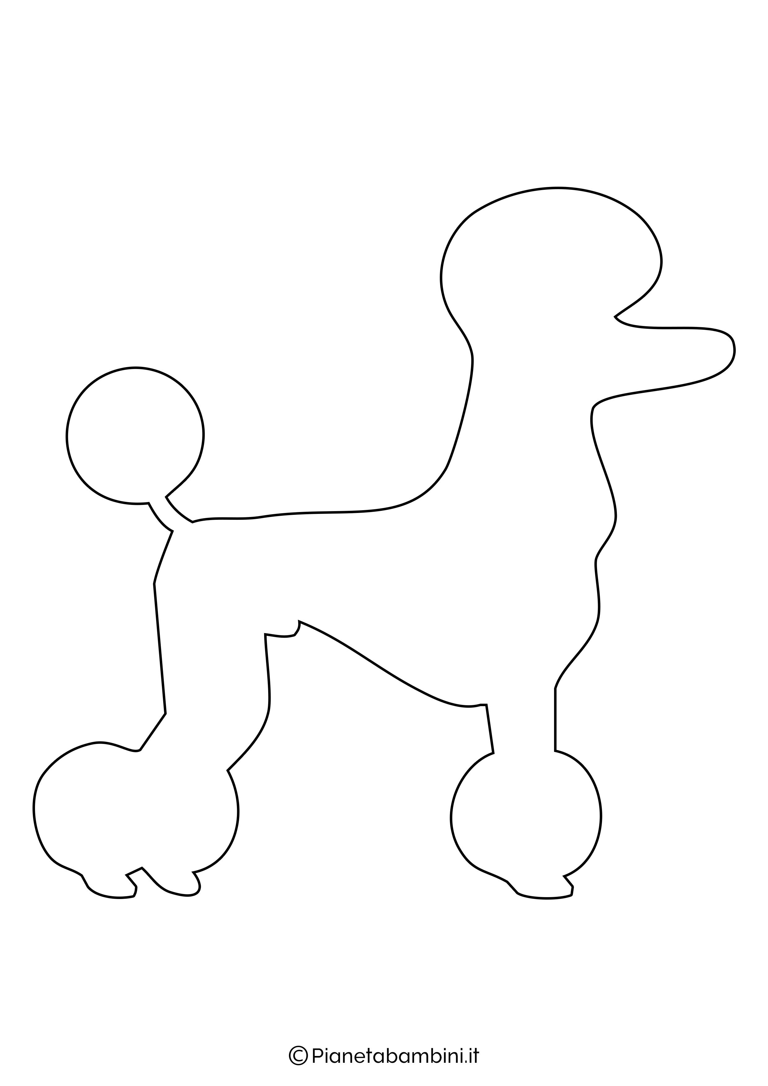 Sagoma di cane grande da ritagliare 6