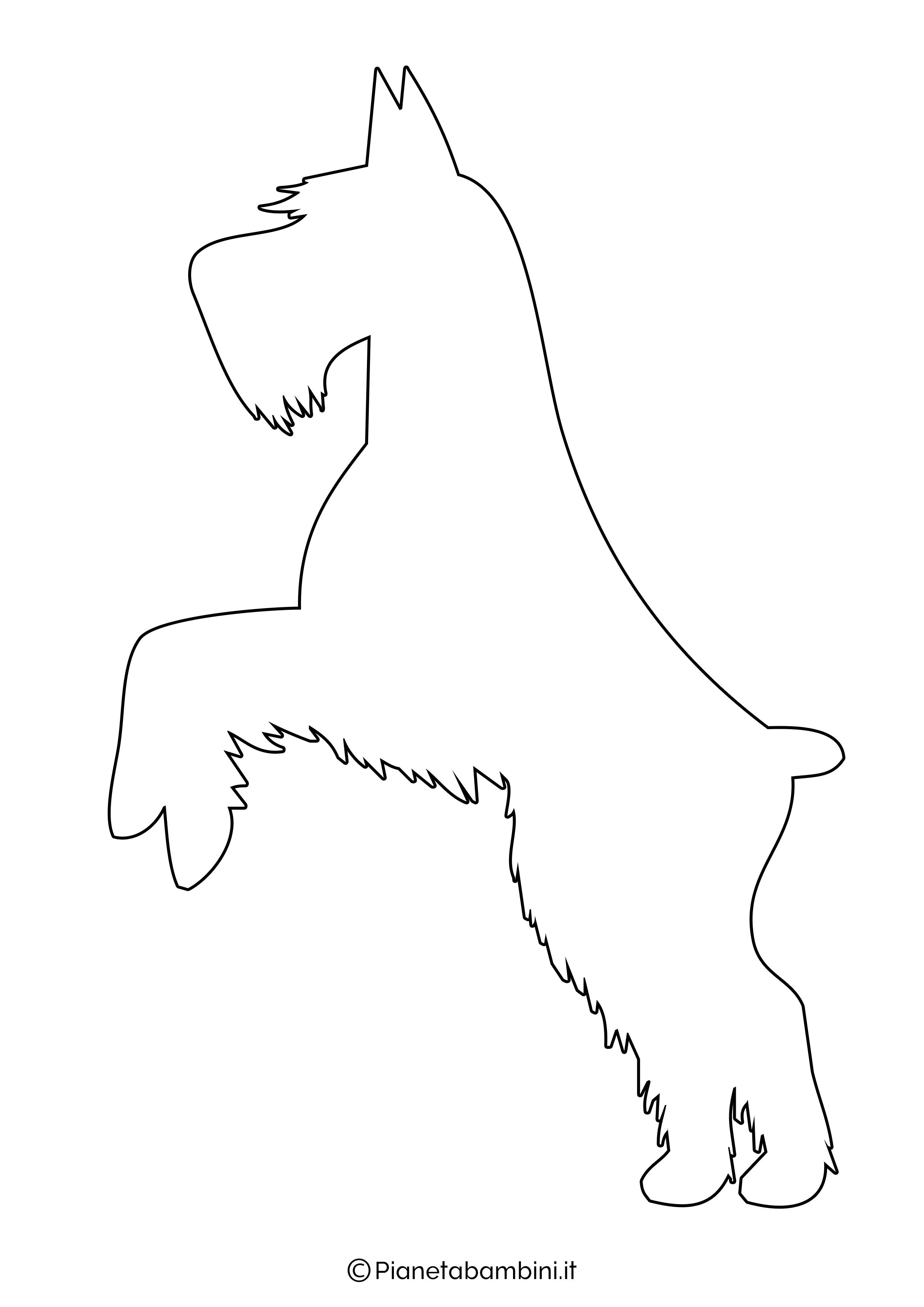 Sagoma di cane grande da ritagliare 8