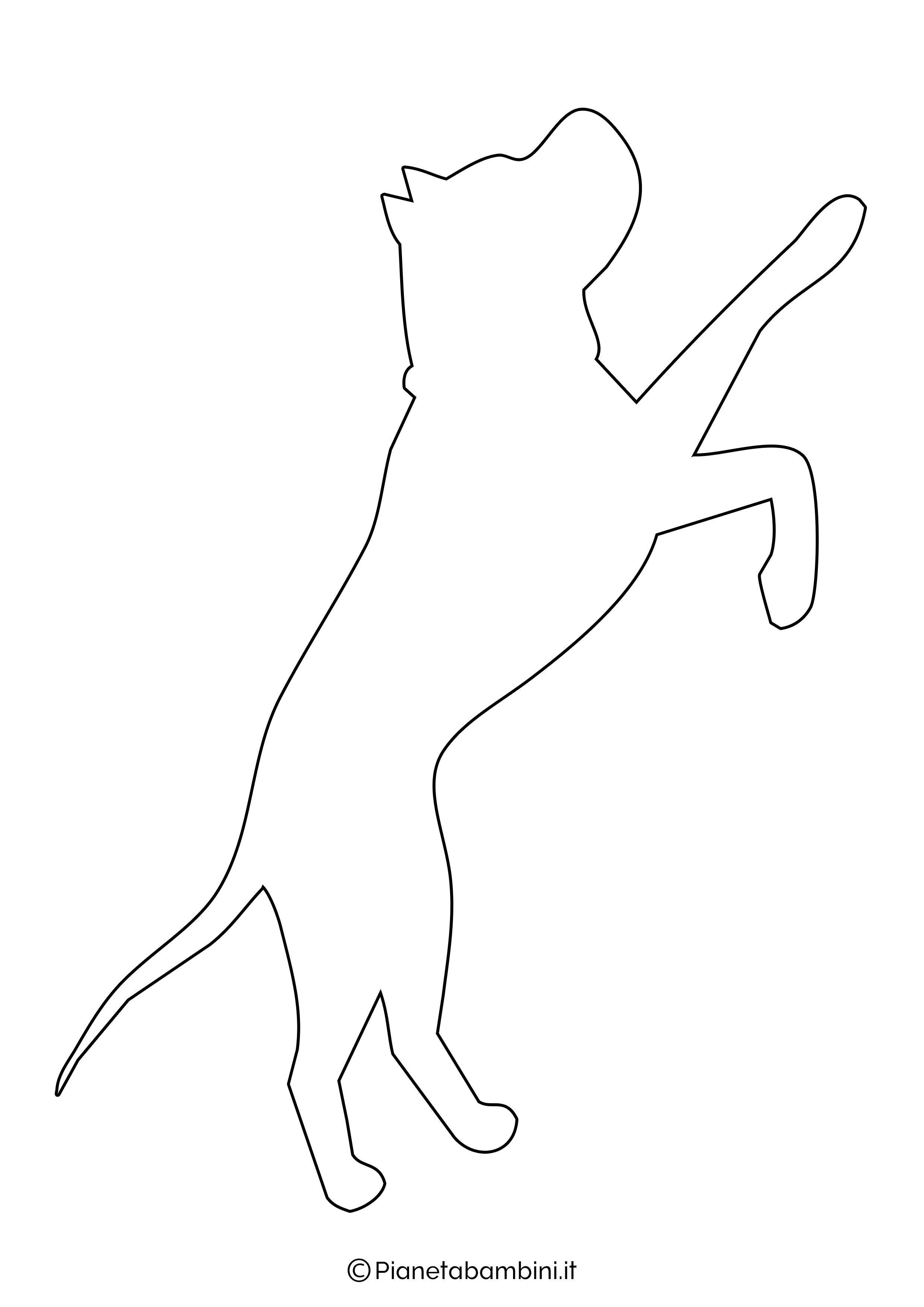 Sagoma di cane grande da ritagliare 10