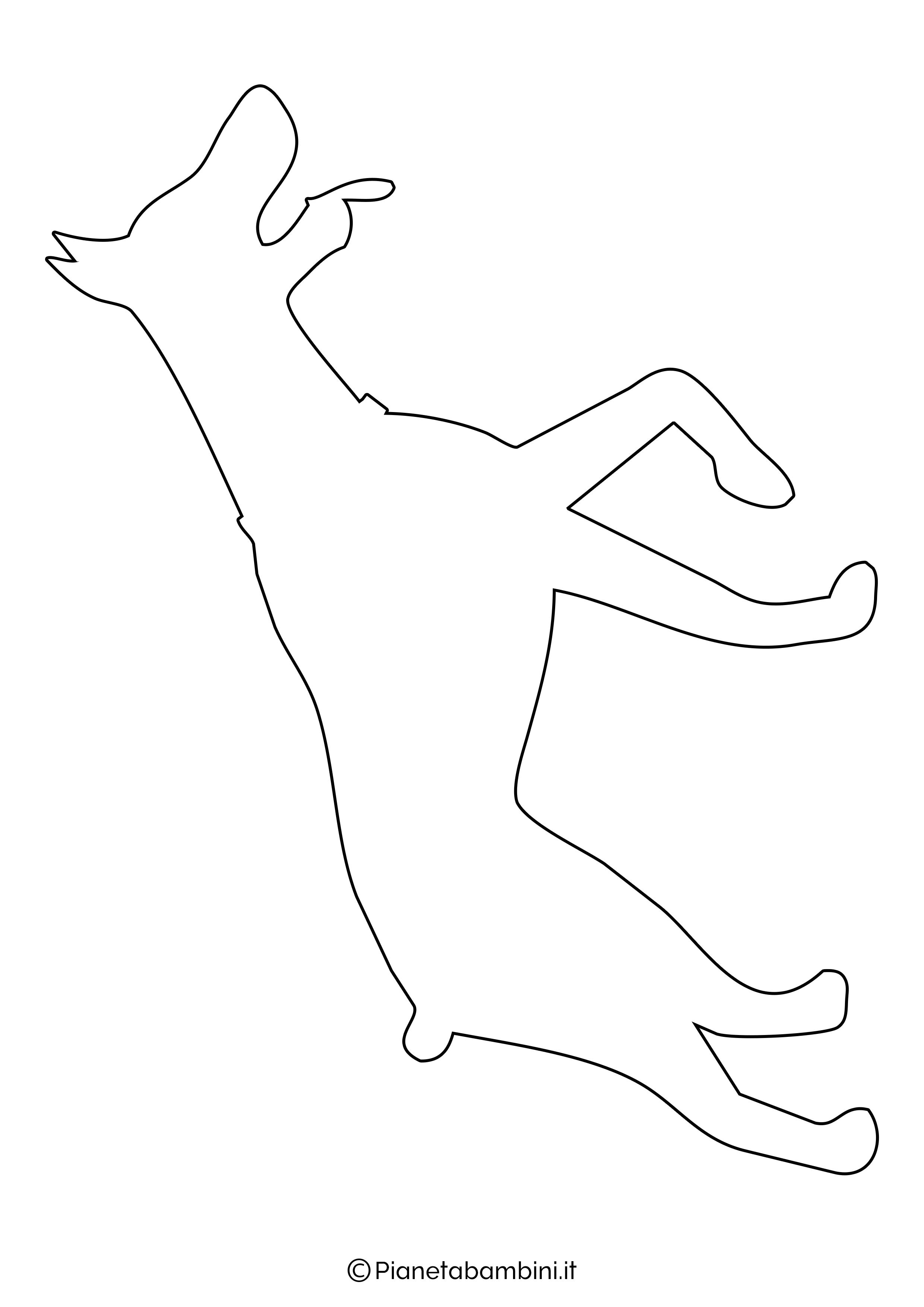 Sagoma di cane grande da ritagliare 11
