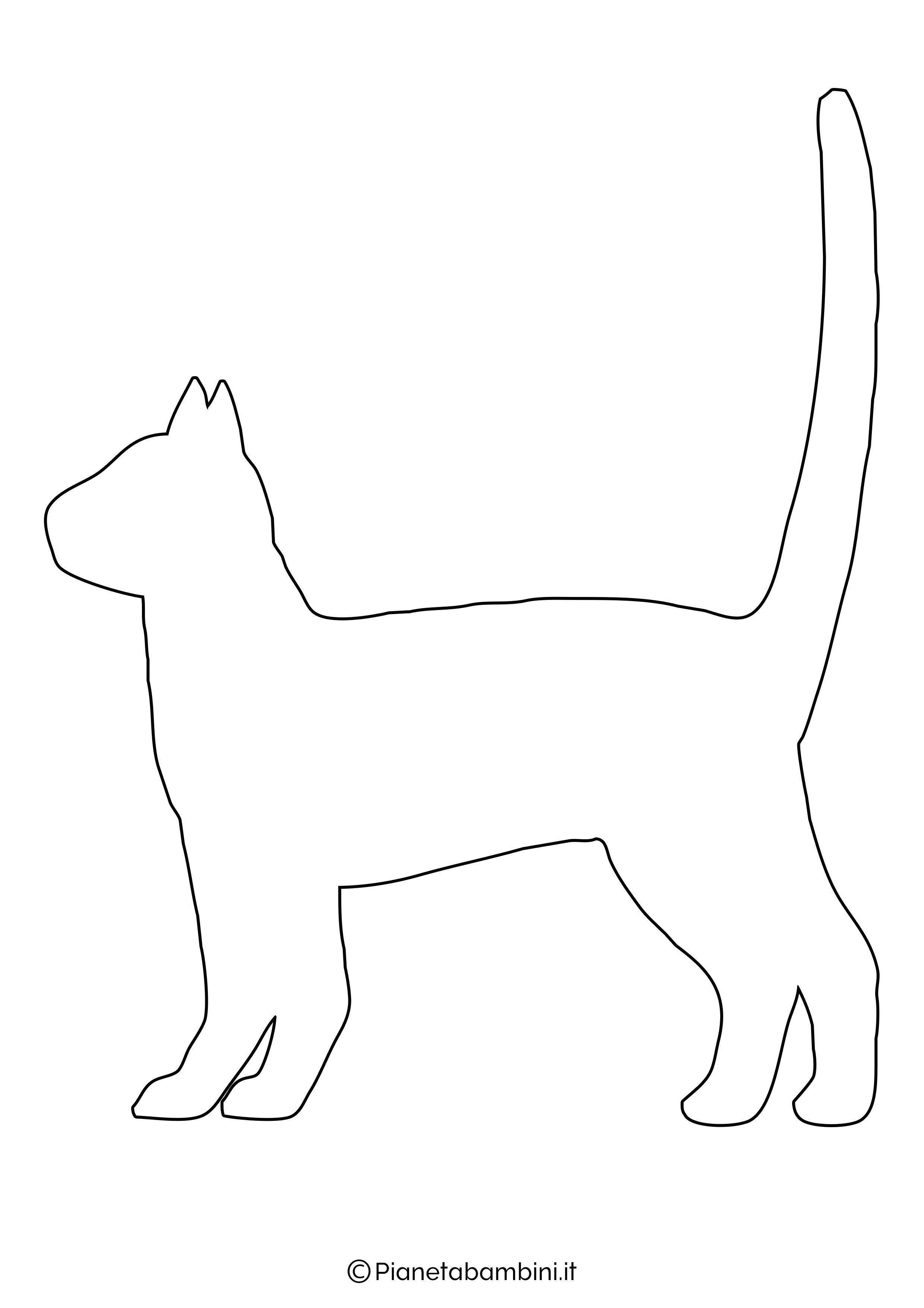 Sagoma gatto grande da ritagliare 1