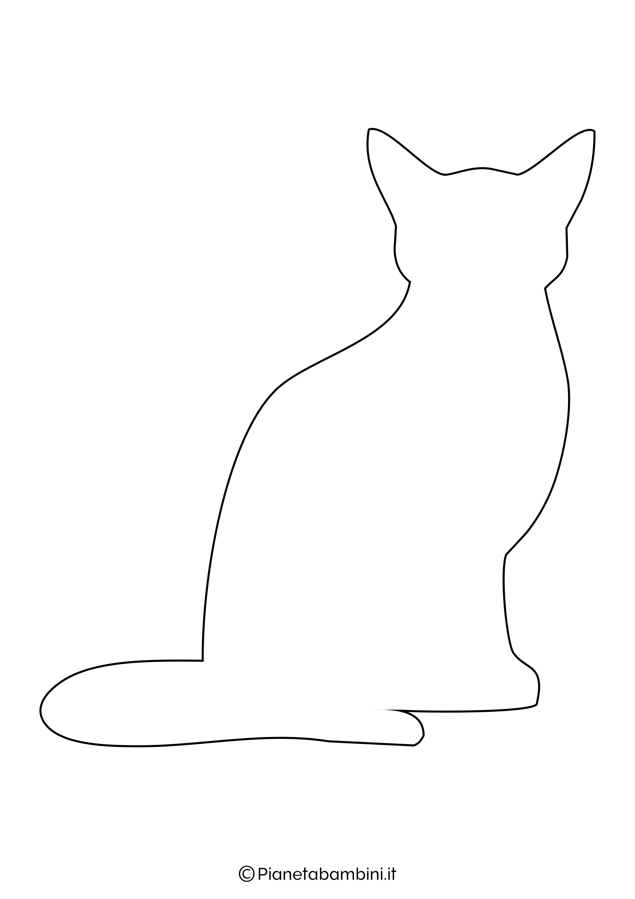 Sagoma gatto grande da ritagliare 3