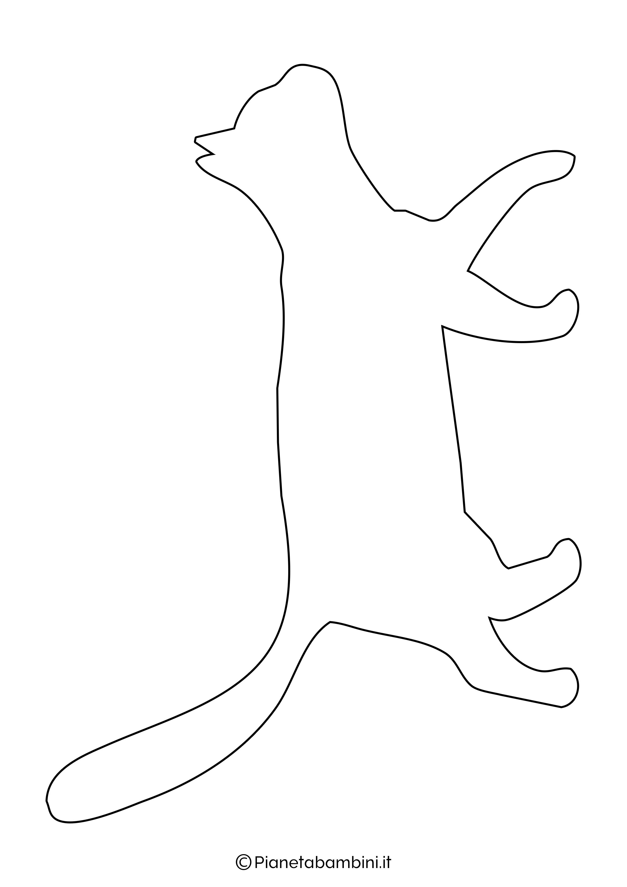 Sagoma gatto grande da ritagliare 4
