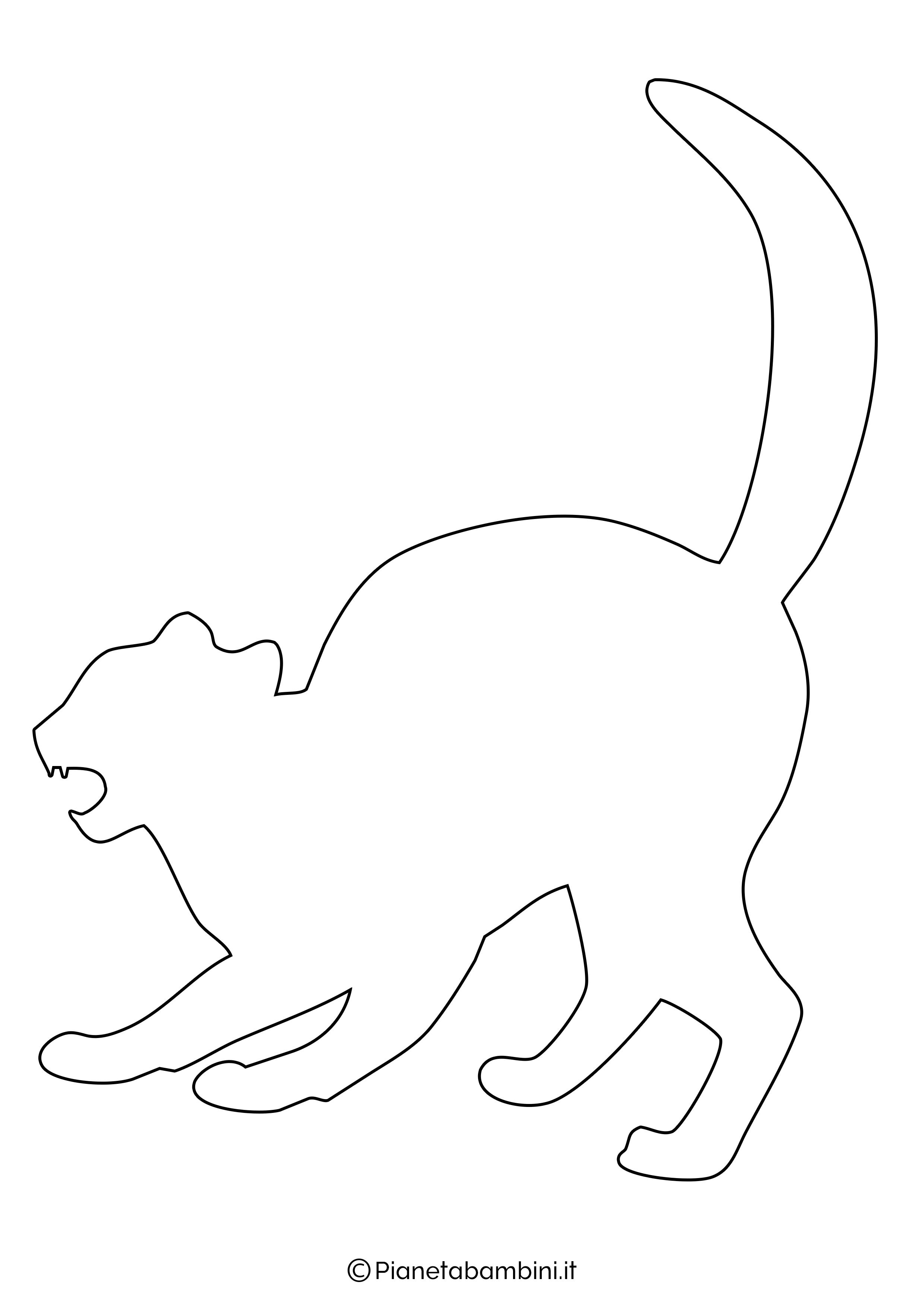 Sagoma gatto grande da ritagliare 5