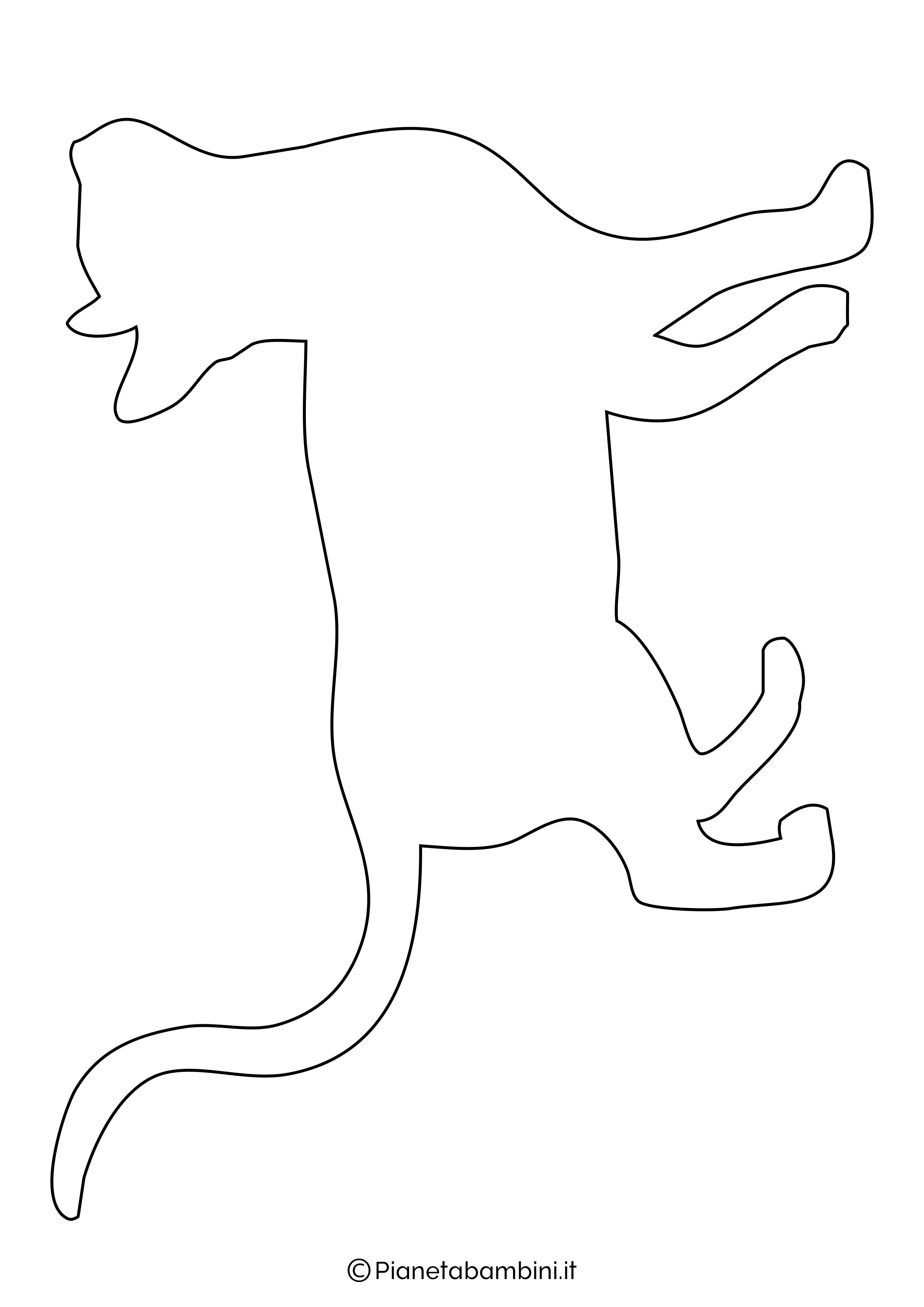 Sagoma gatto grande da ritagliare 6