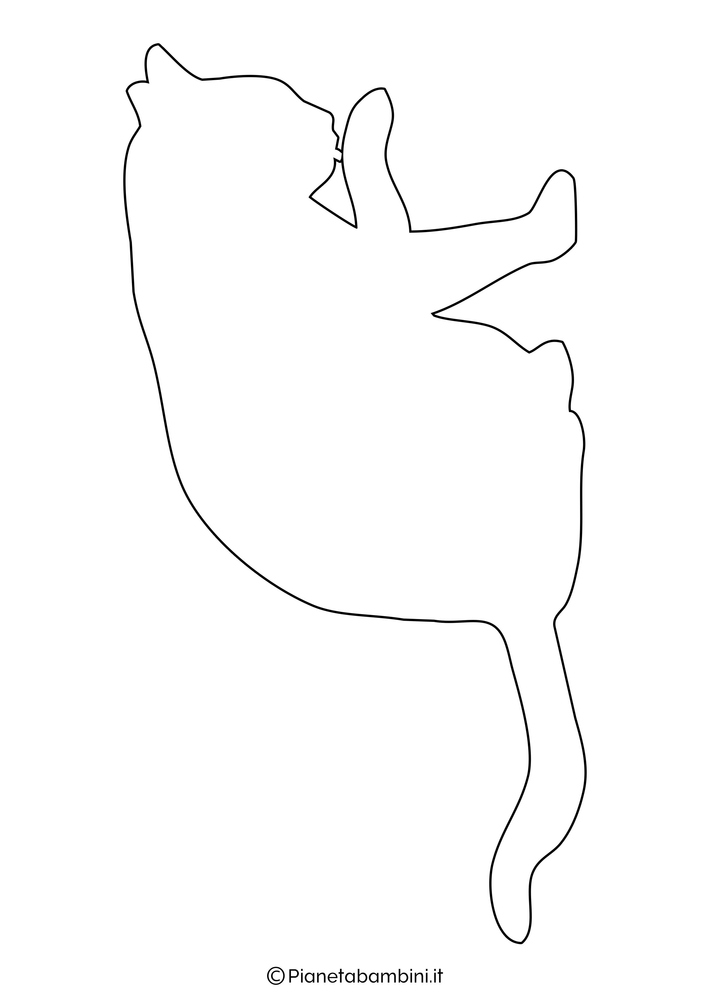 Sagoma gatto grande da ritagliare 8