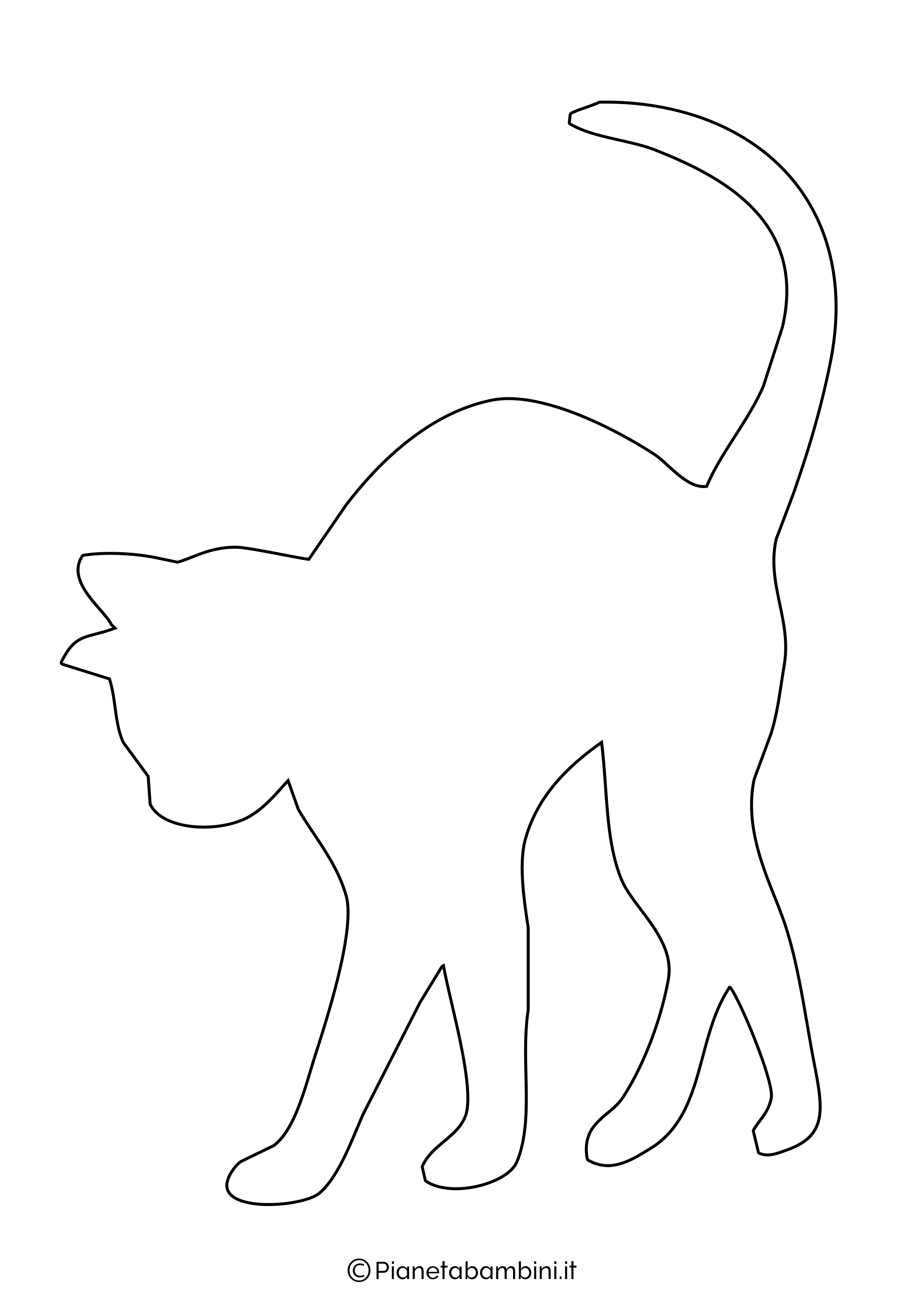 Sagoma gatto grande da ritagliare 9