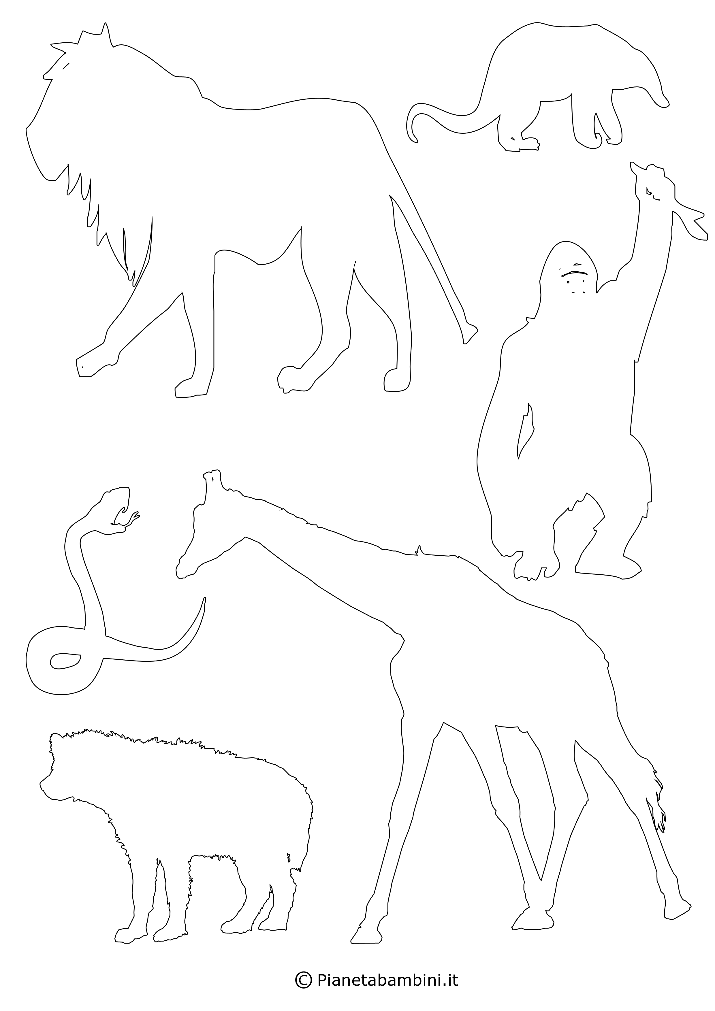 Sagome di 90 animali da stampare colorare e ritagliare - Immagini pipistrello da stampare ...