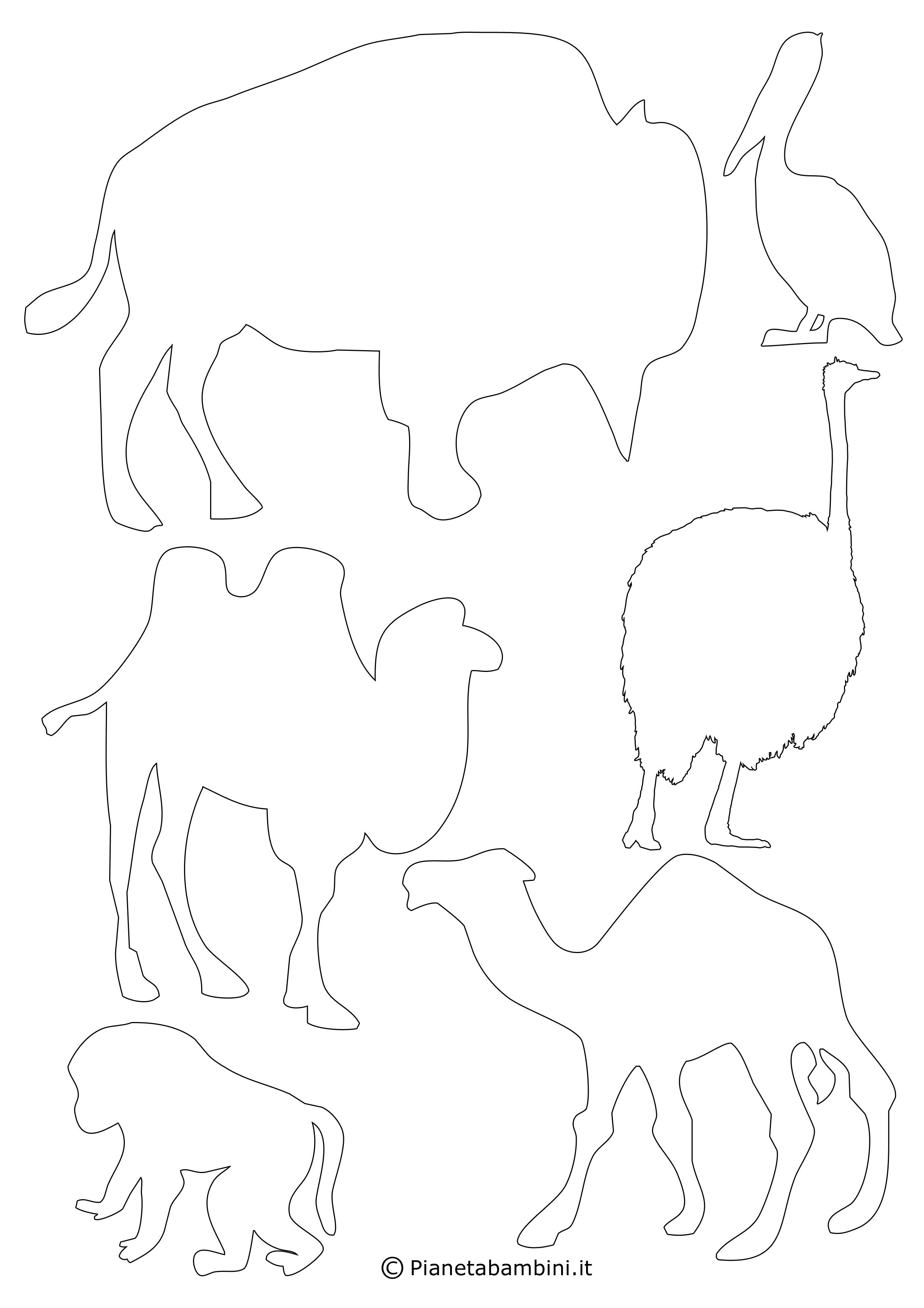 sagome di animali da stampare e ritagliare