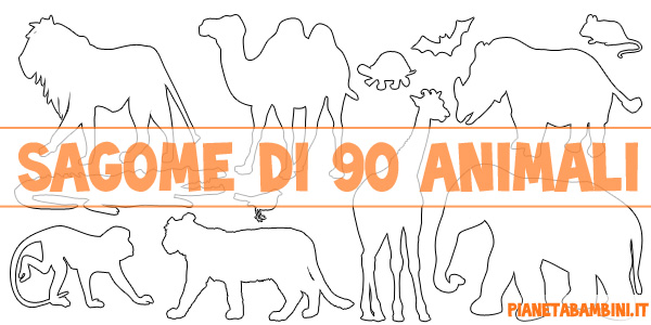 Sagome Di Animali Da Stampare E Ritagliare Pianetabambini It