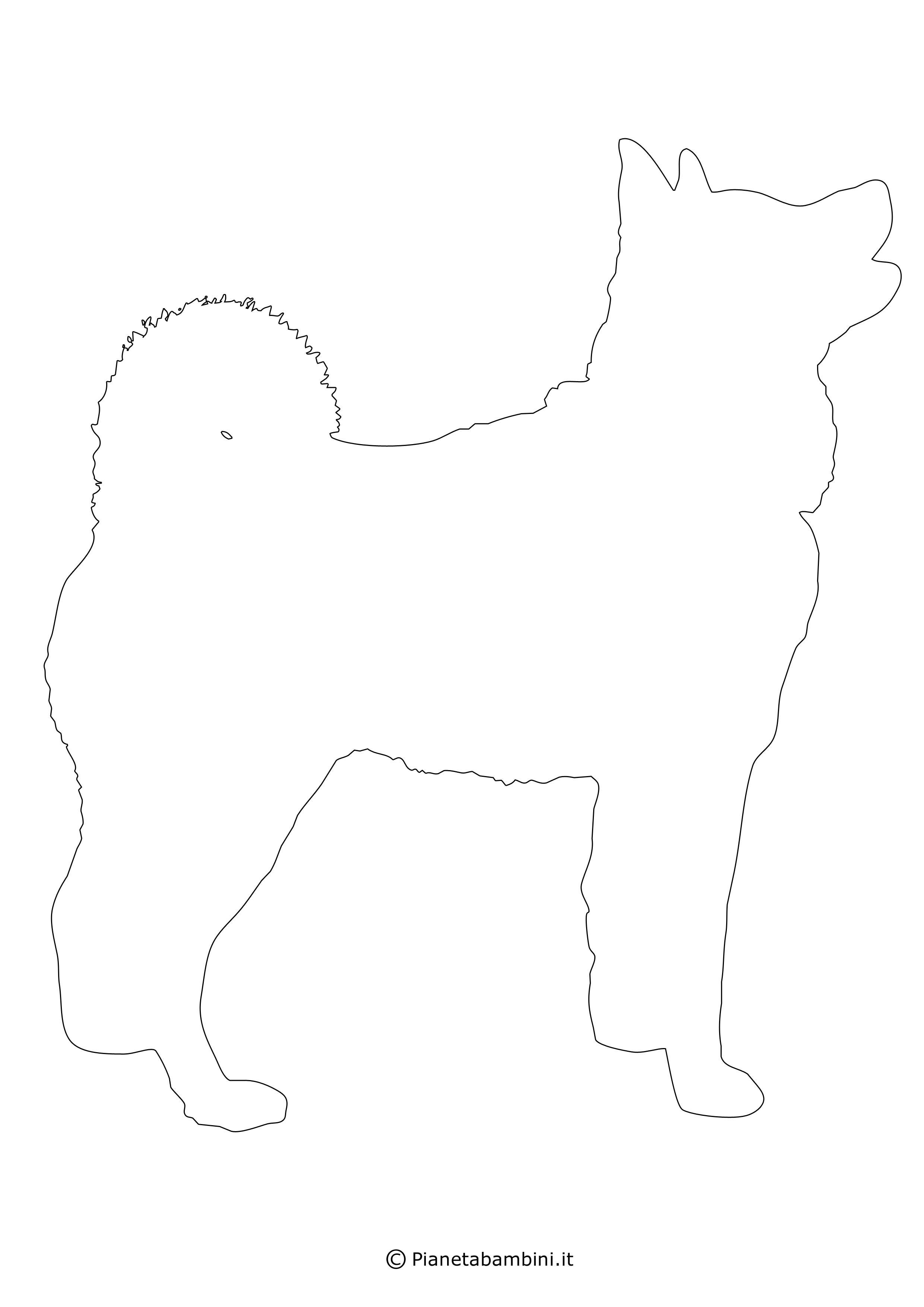 Sagoma di cane grande da ritagliare 18