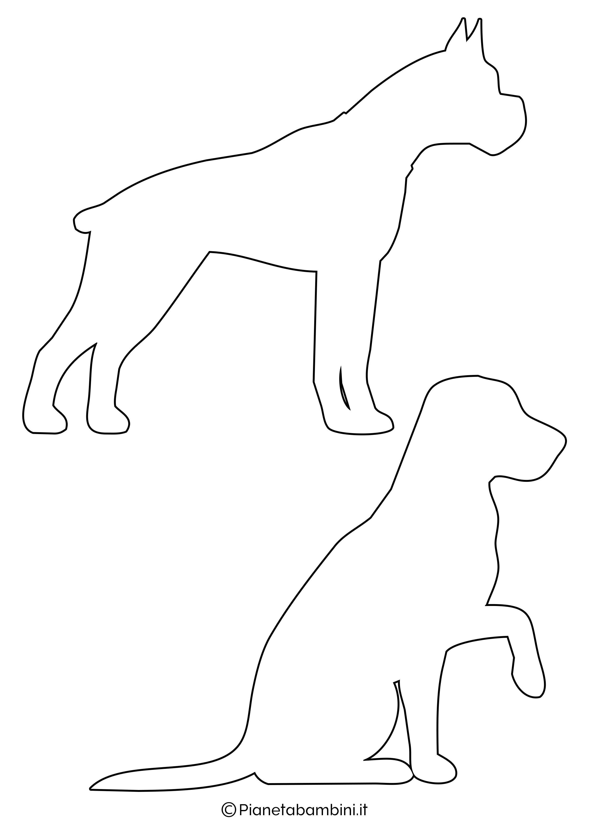 Sagome di cani medie da ritagliare 1