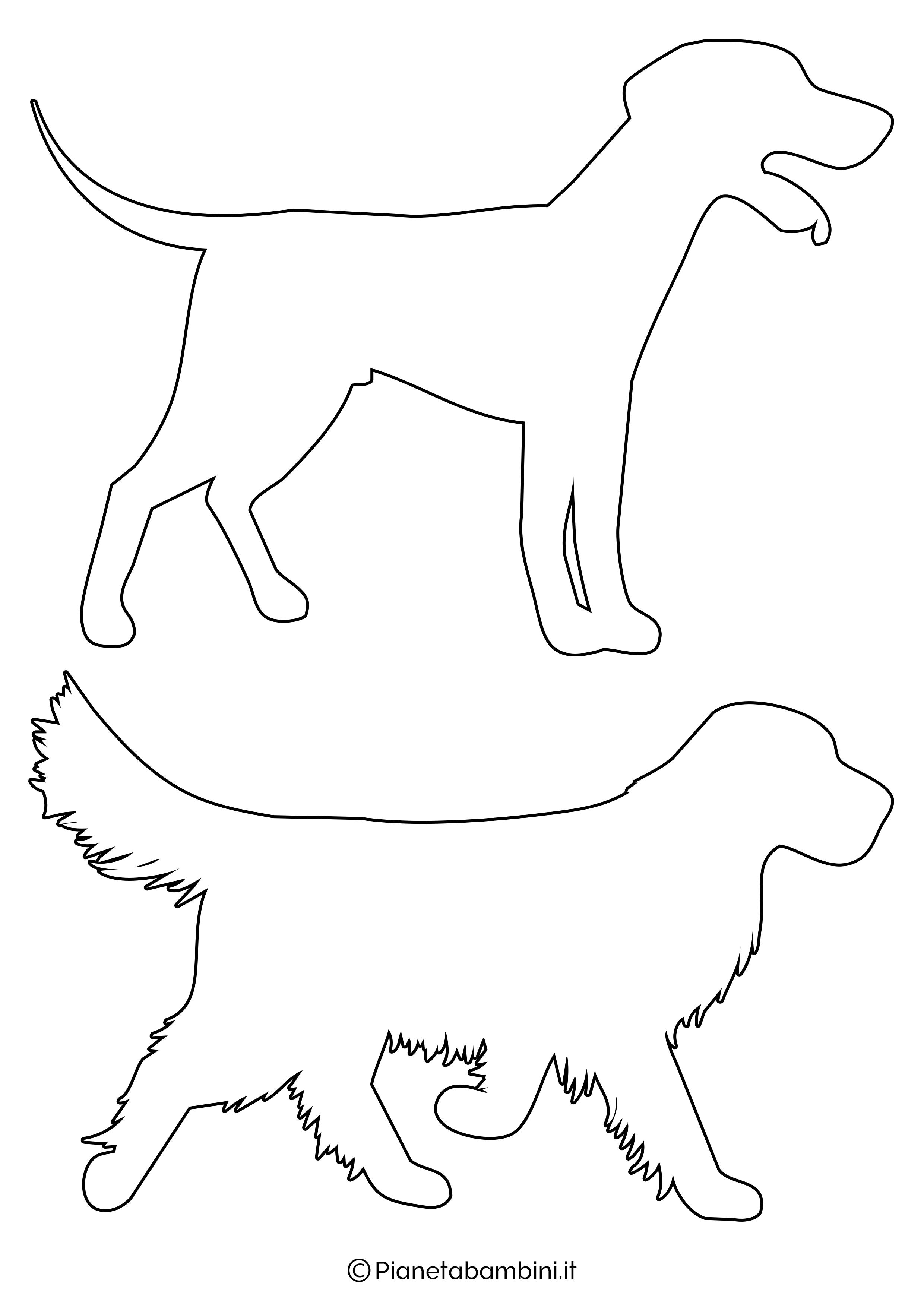 Sagome di cani medie da ritagliare 2