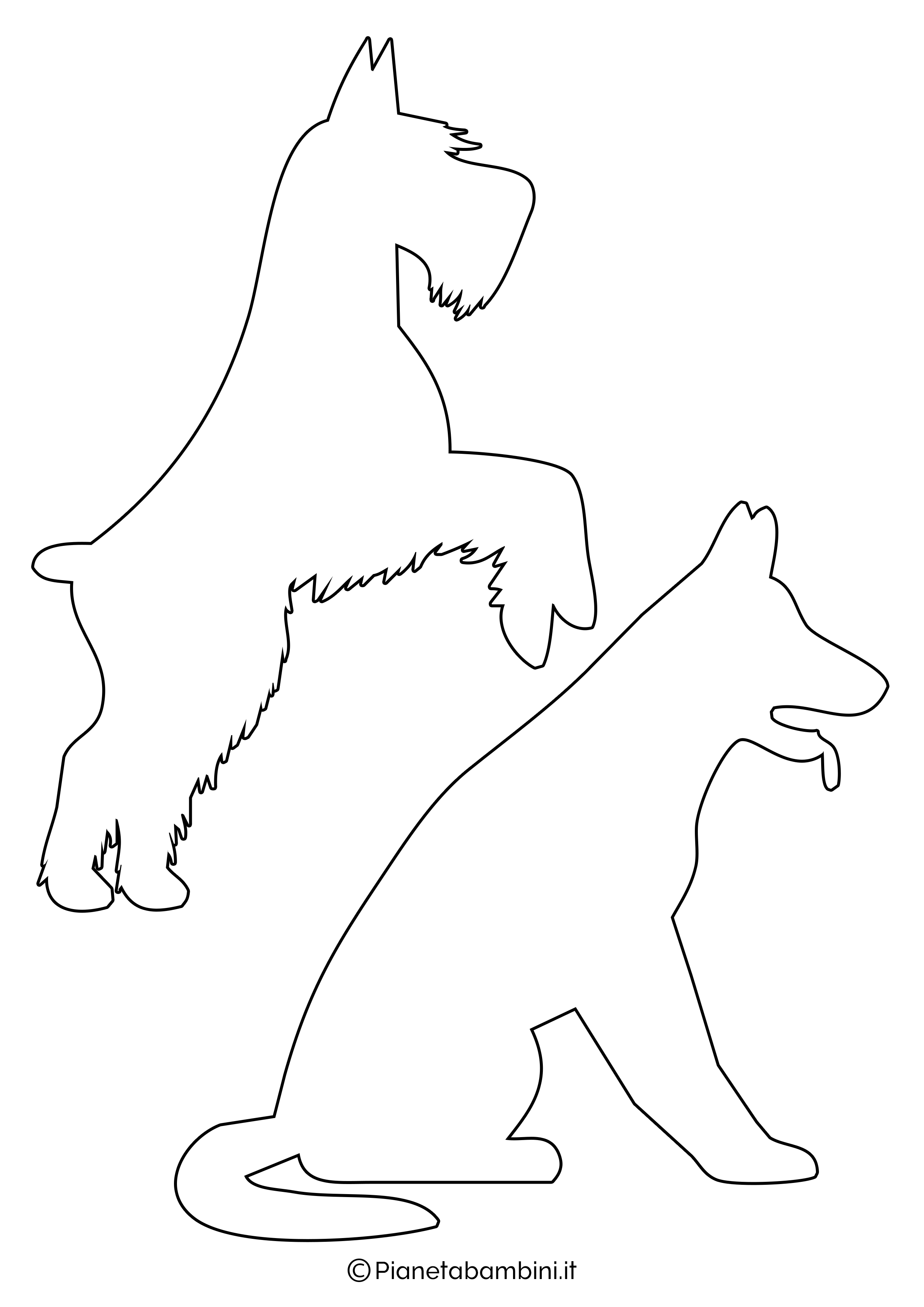 Sagome di cani medie da ritagliare 3