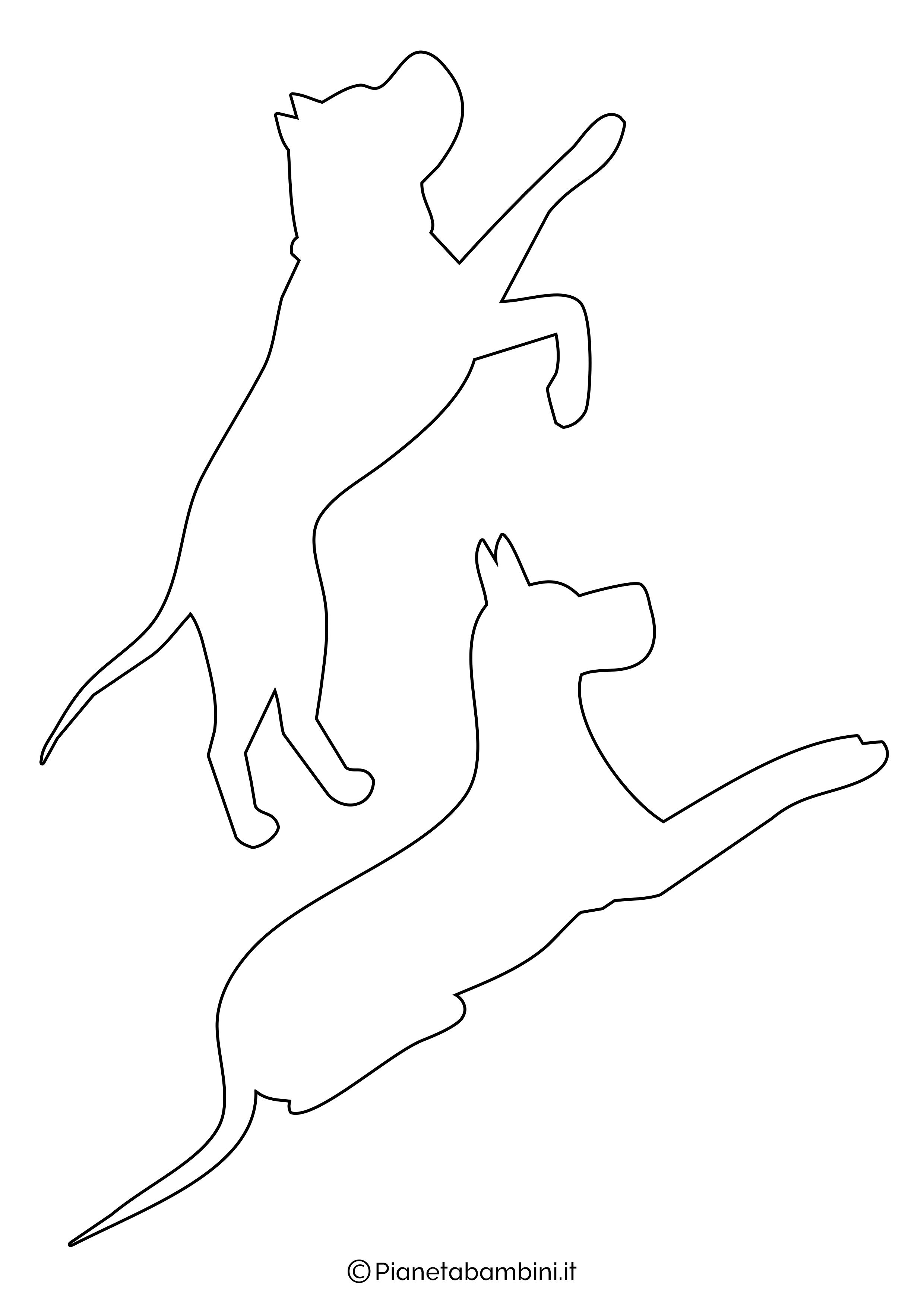 Sagome di cani medie da ritagliare 5