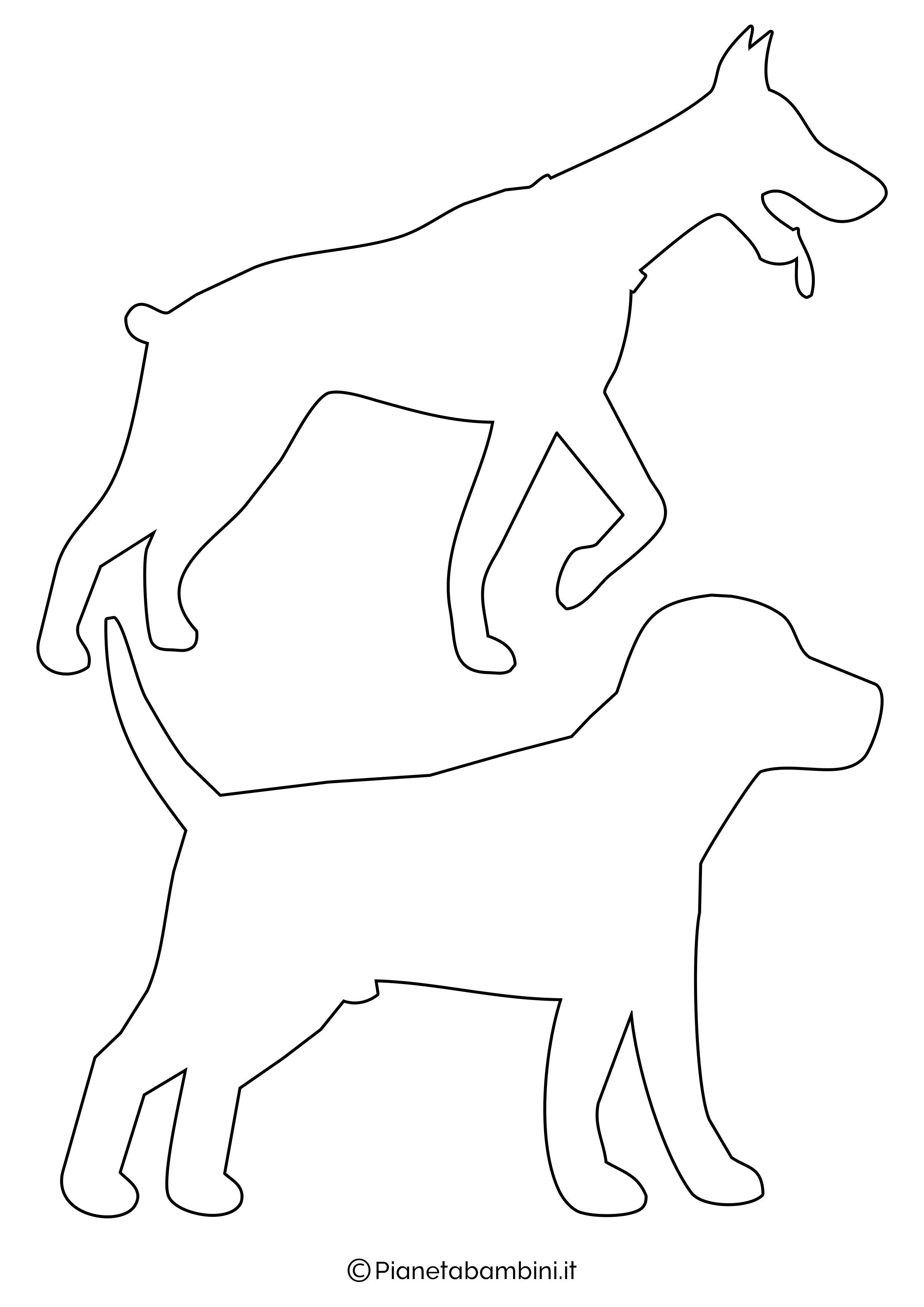 Sagome di cani medie da ritagliare 6