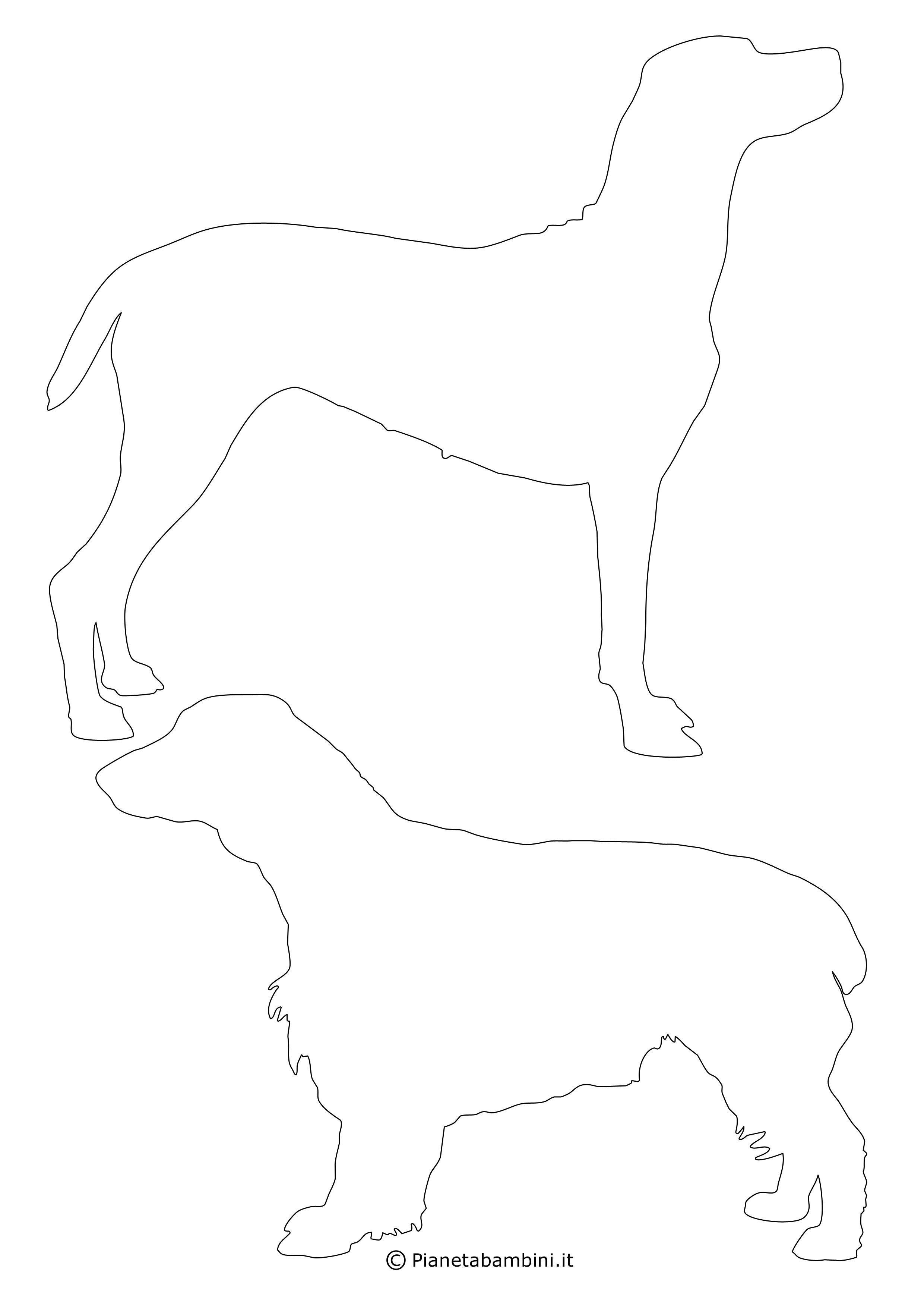 Sagome di cani medie da ritagliare 7