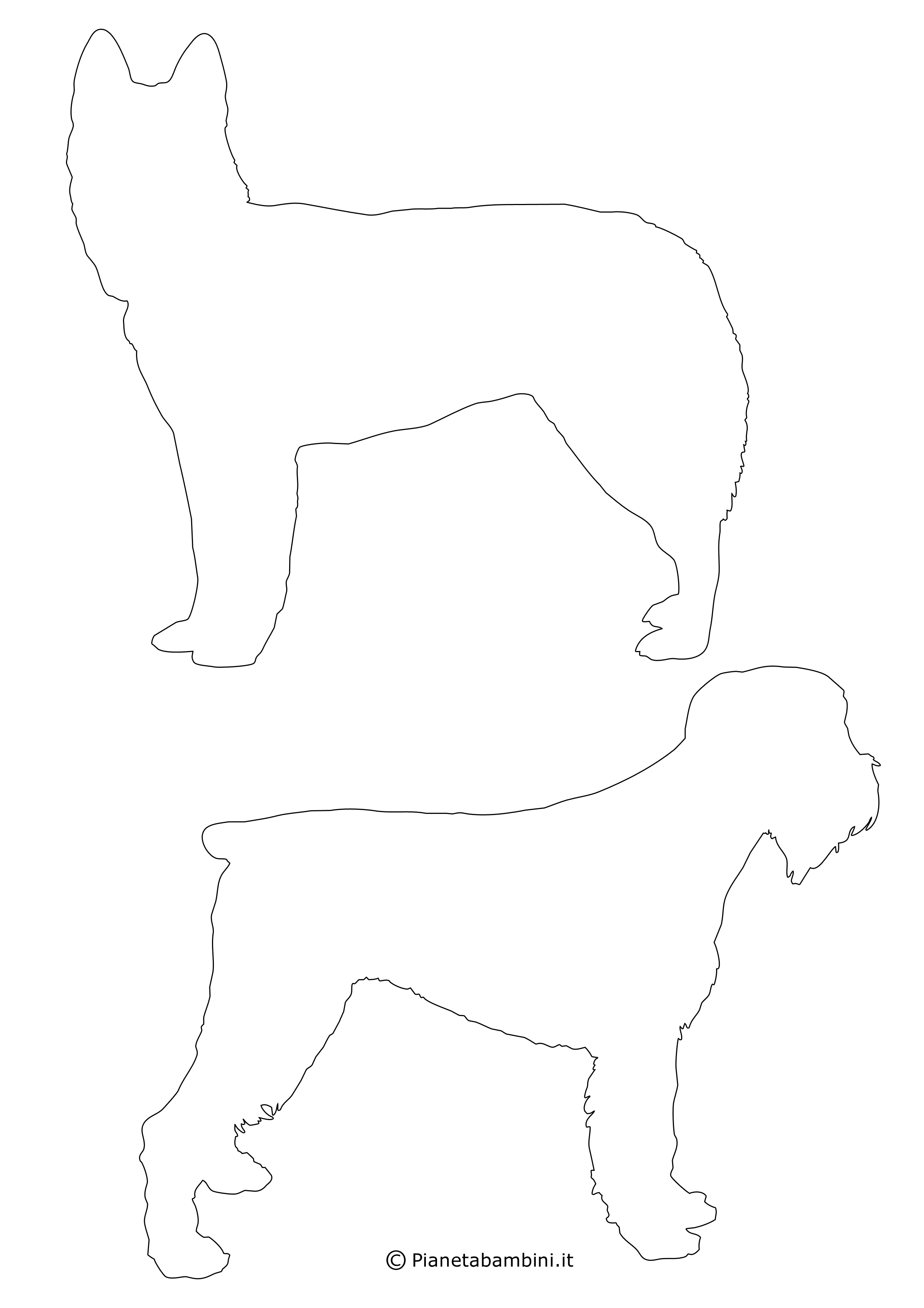 Sagome di cani medie da ritagliare 9