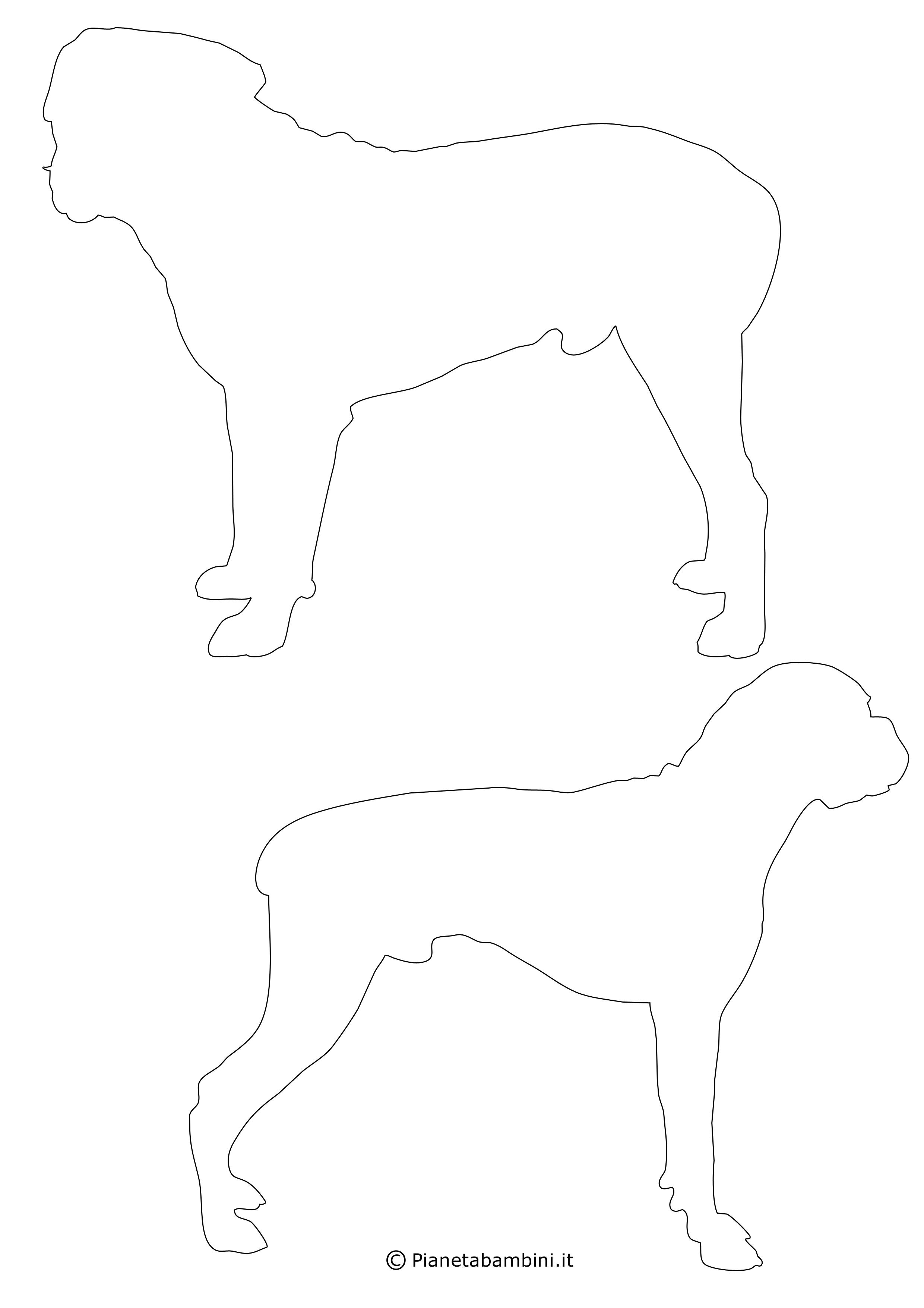 Sagome di cani medie da ritagliare 10
