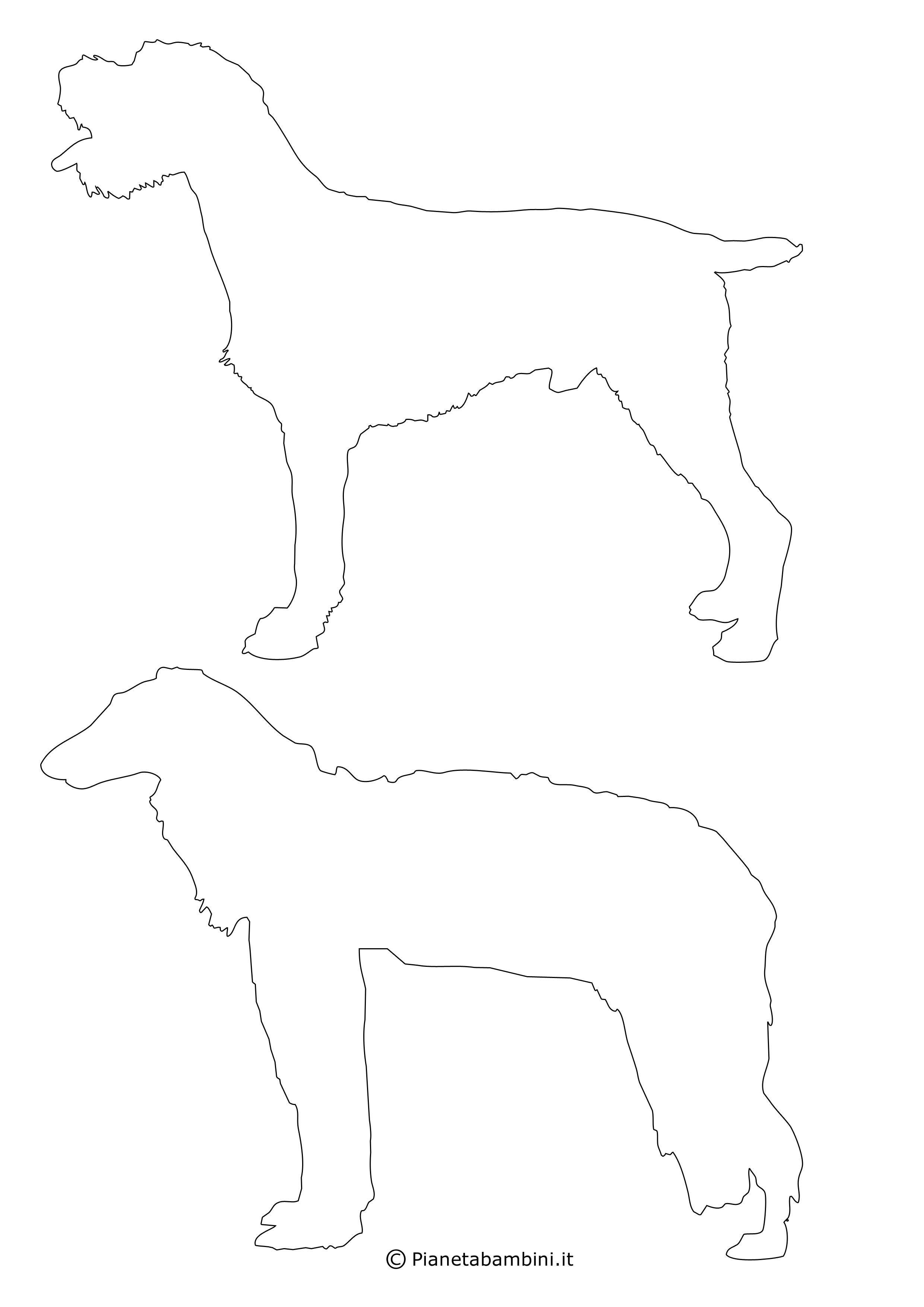 Sagome di cani medie da ritagliare 11