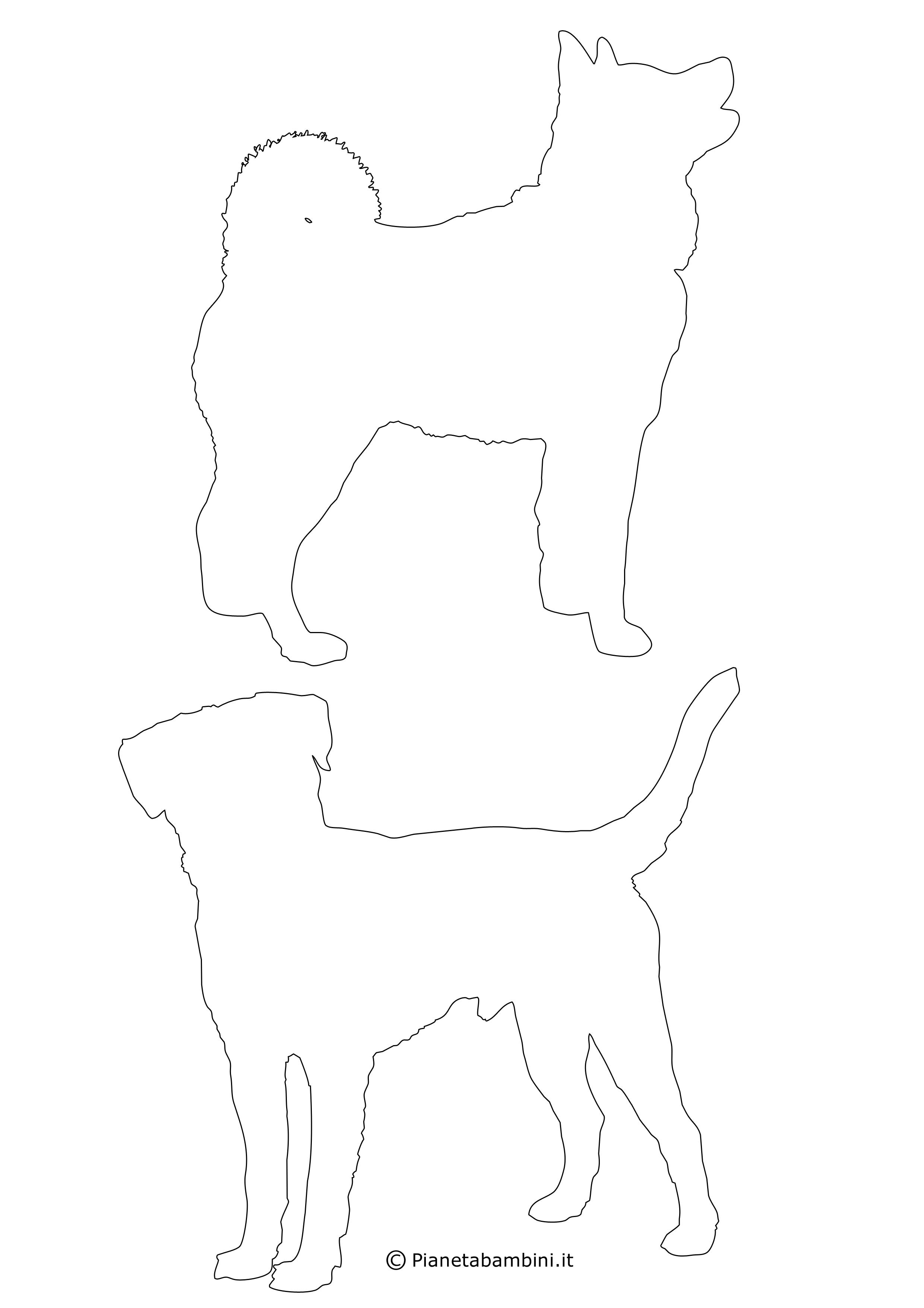 Sagome di cani medie da ritagliare 12