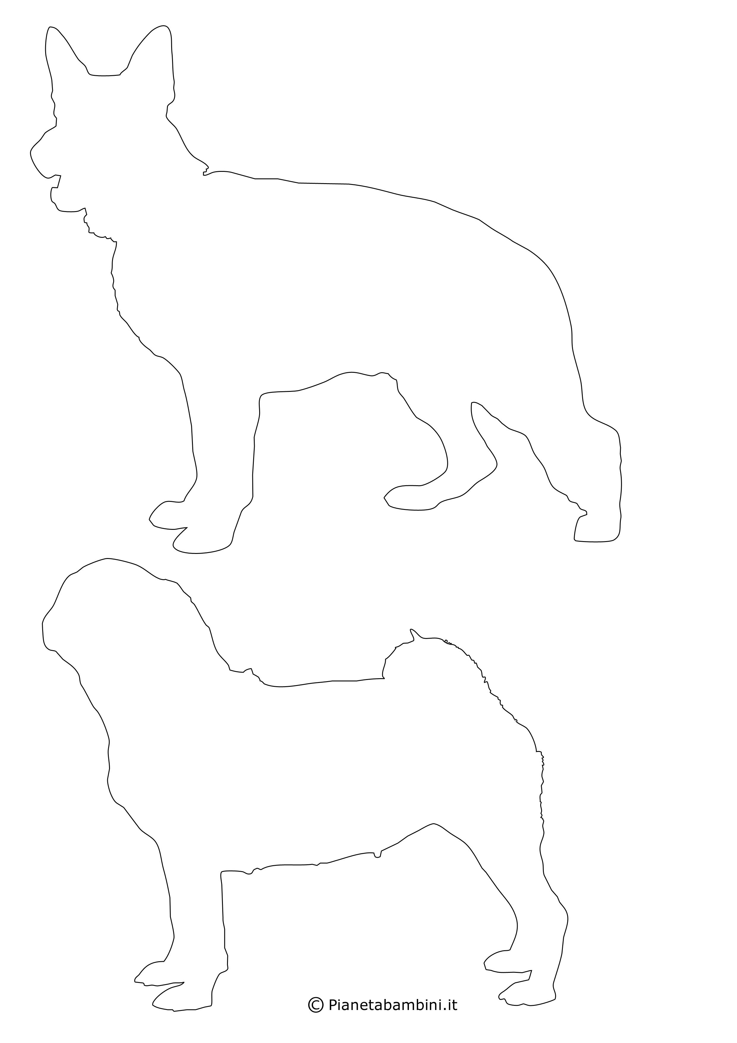 Sagome di cani medie da ritagliare 14