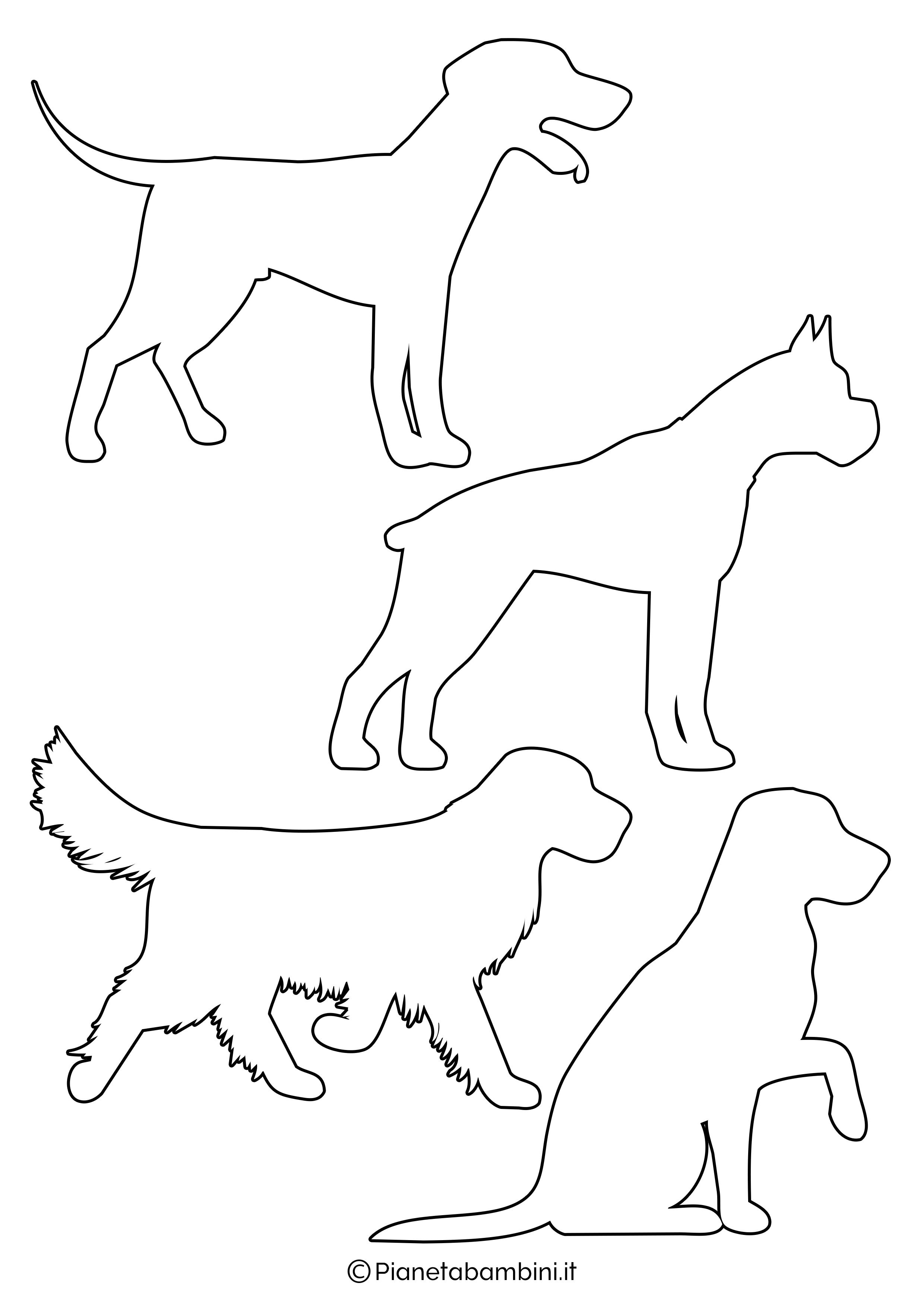 Sagome di cani piccole da ritagliare 1