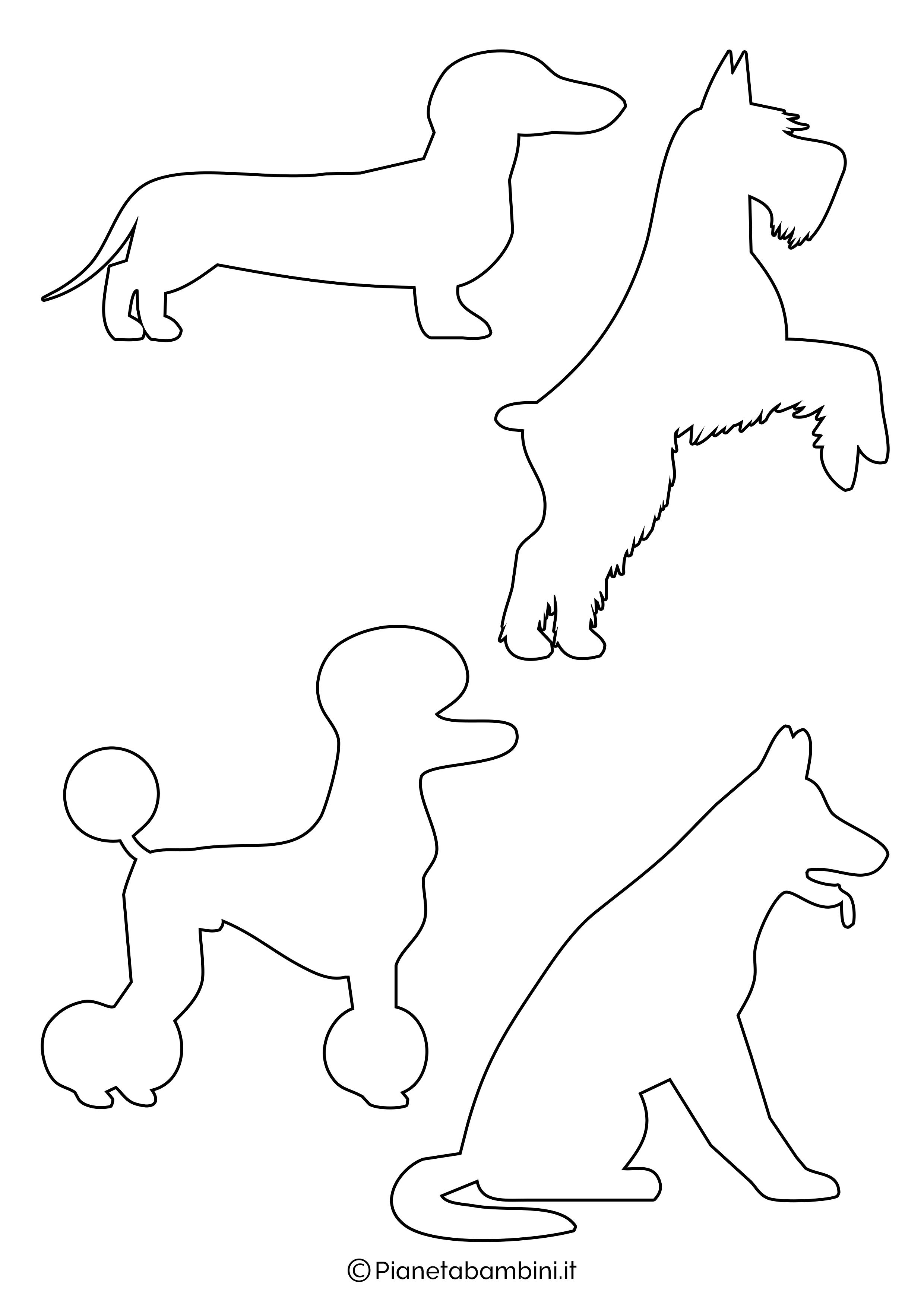 Sagome di cani piccole da ritagliare 2