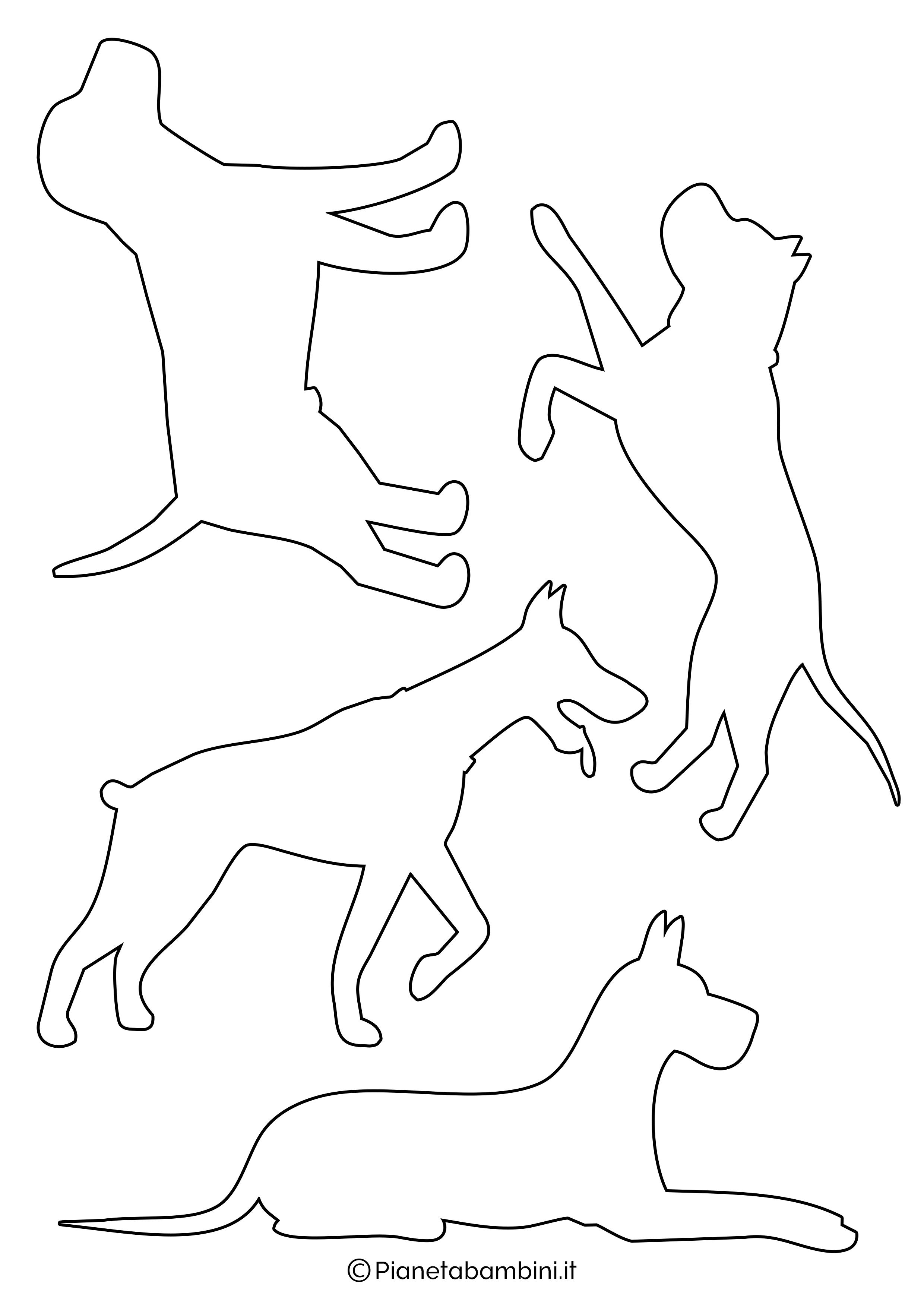 Sagome di cani piccole da ritagliare 3