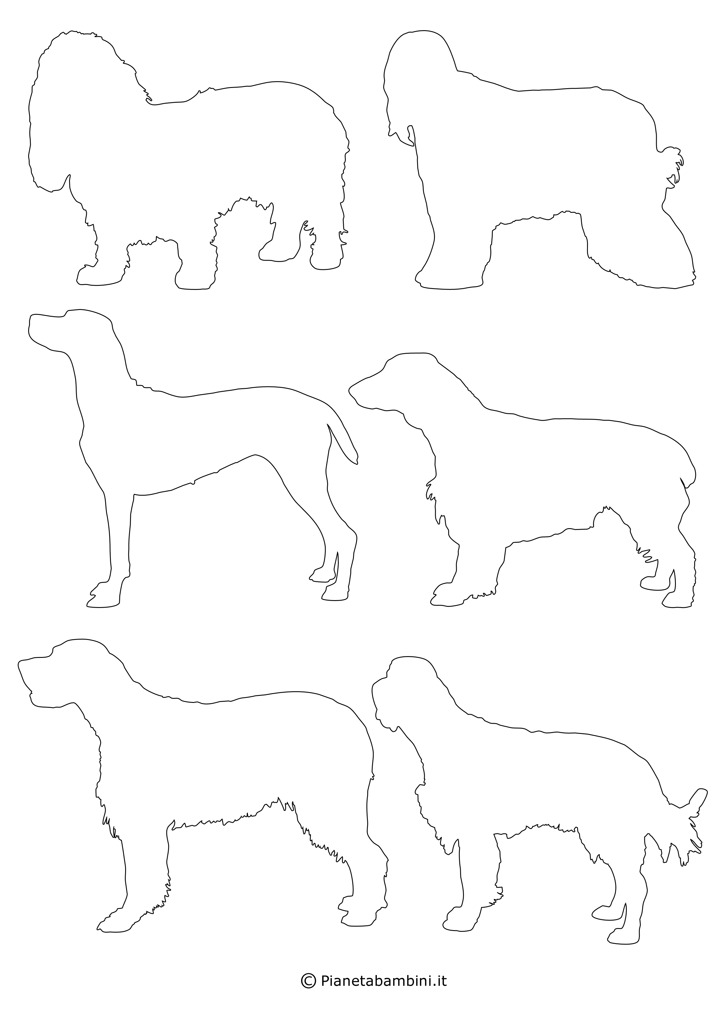 Sagome di cani piccole da ritagliare 4