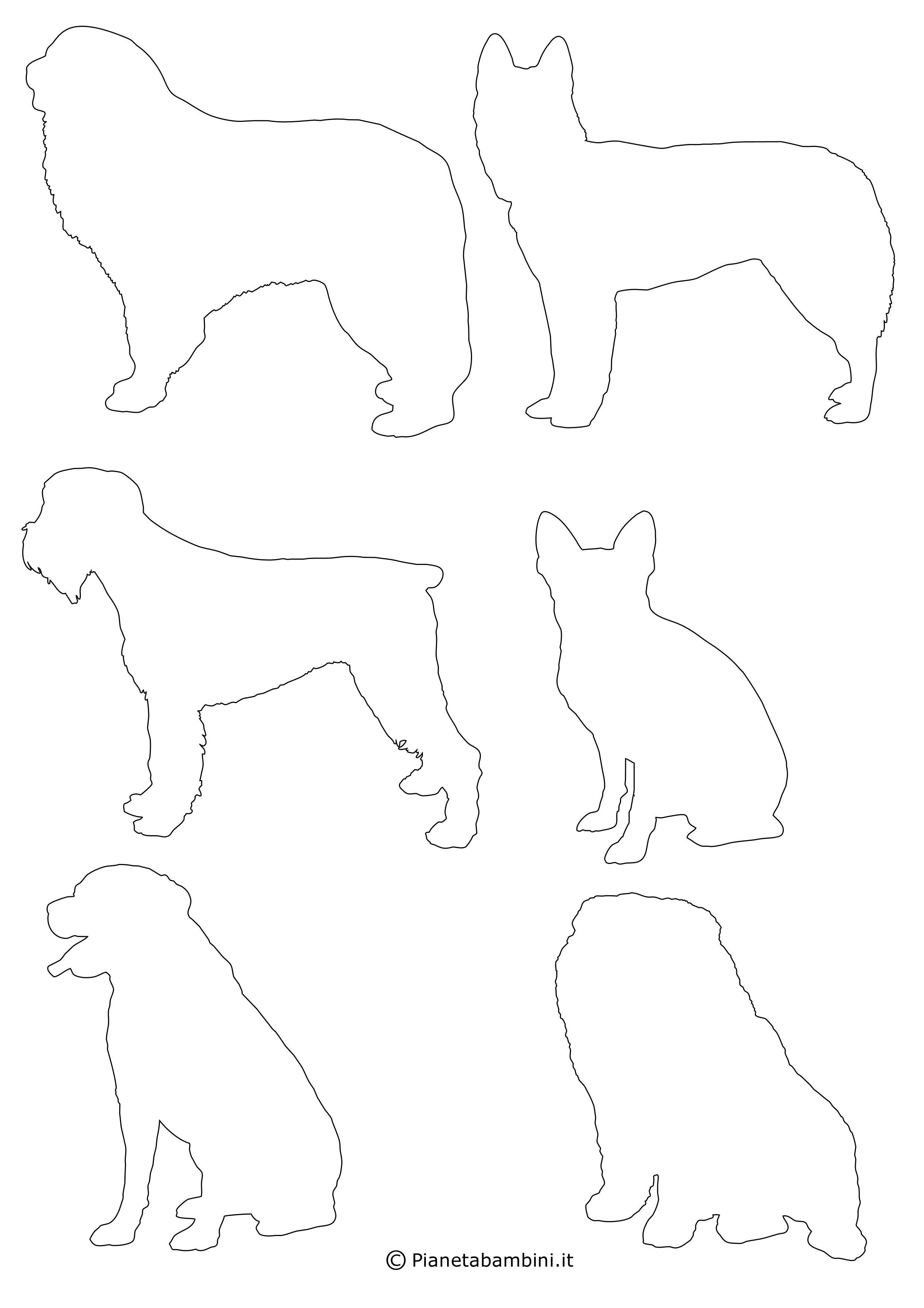 Sagome di cani piccole da ritagliare 5