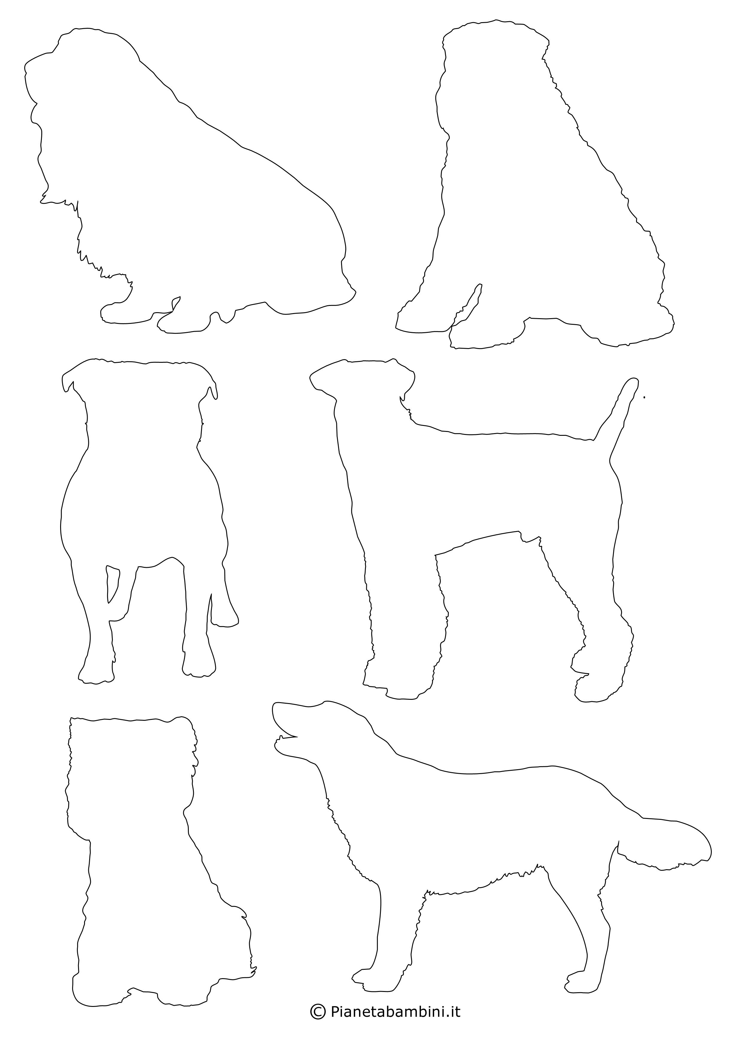 Sagome di cani piccole da ritagliare 6