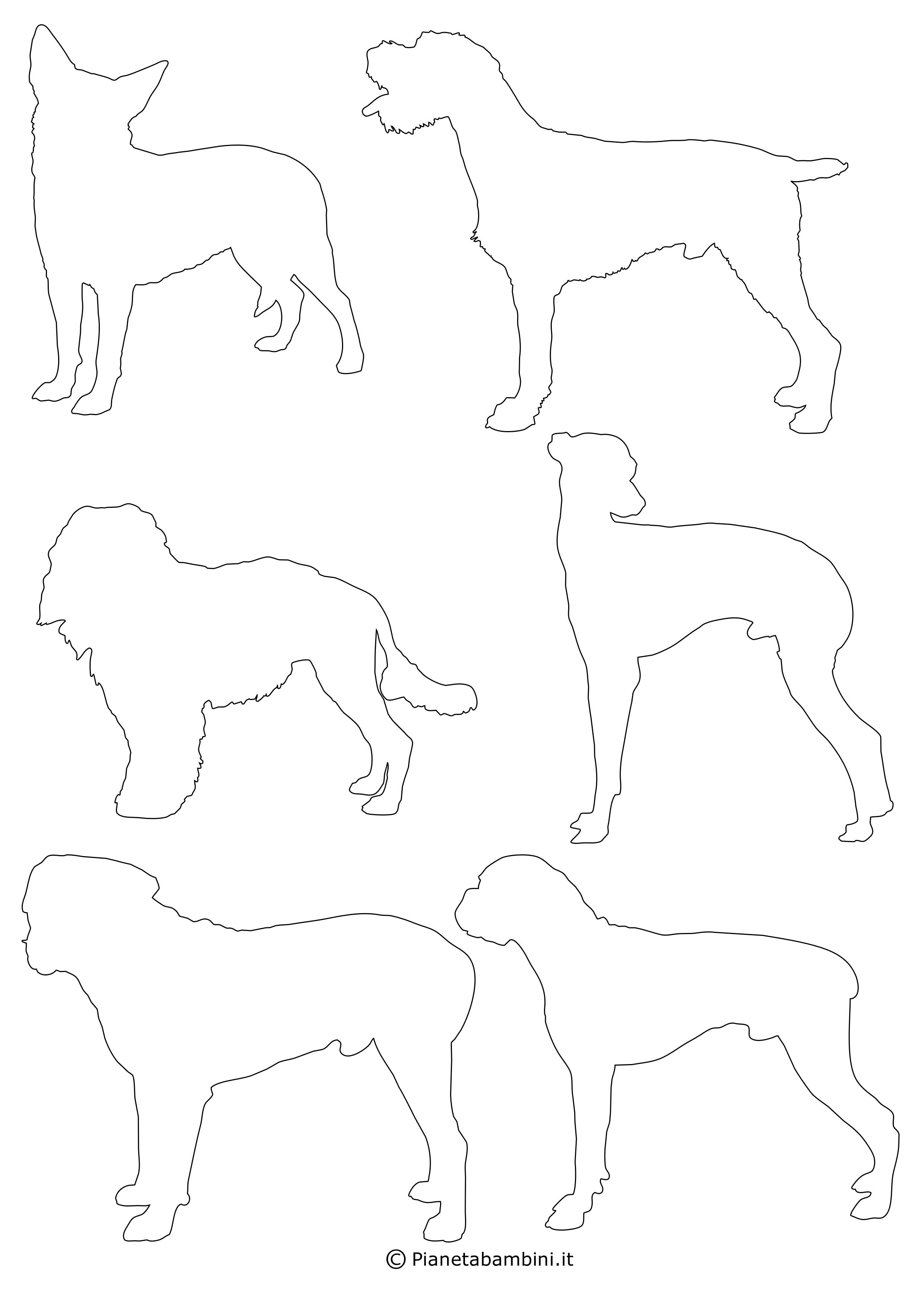 Sagome di cani piccole da ritagliare 7