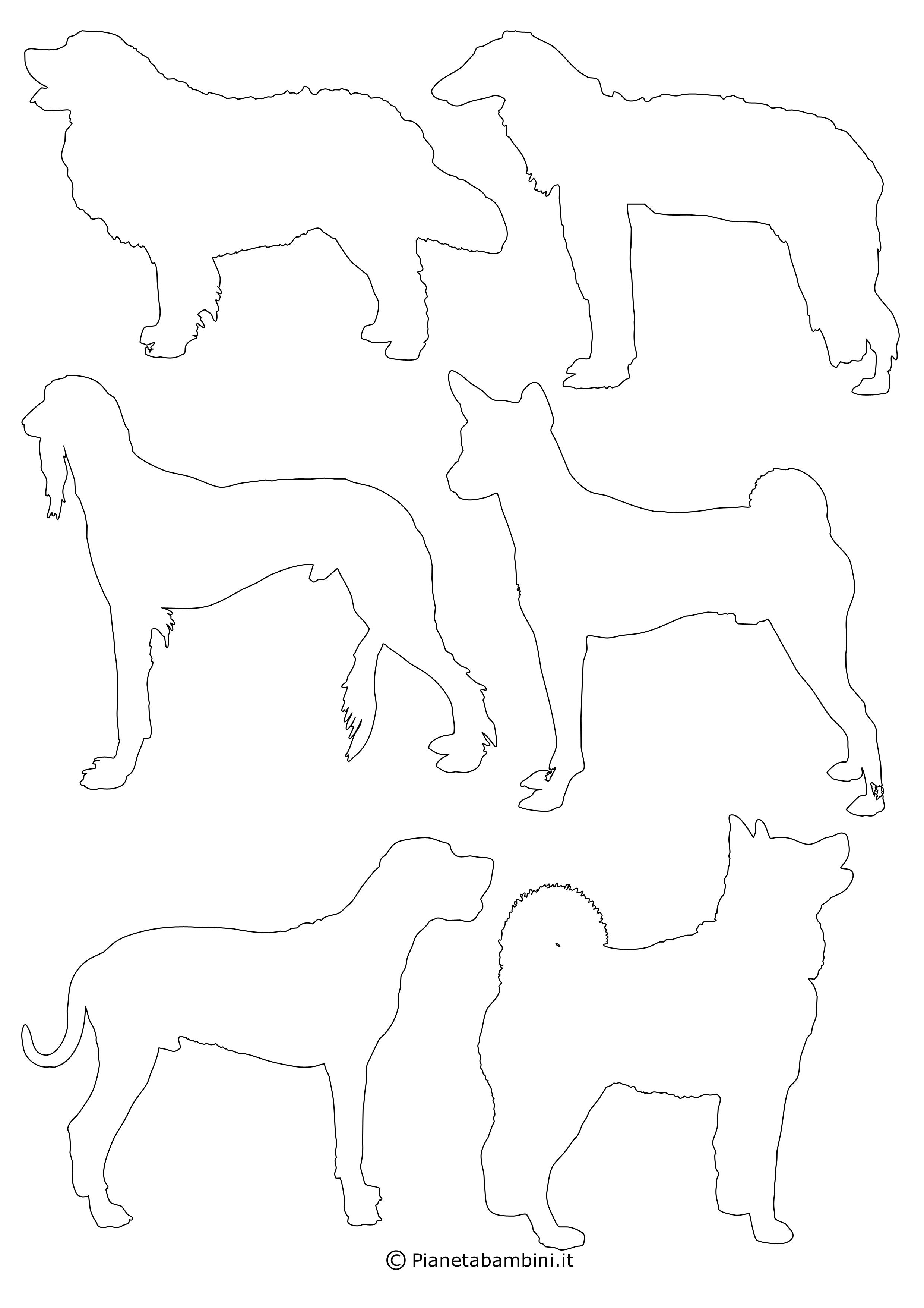 Sagome di cani piccole da ritagliare 8