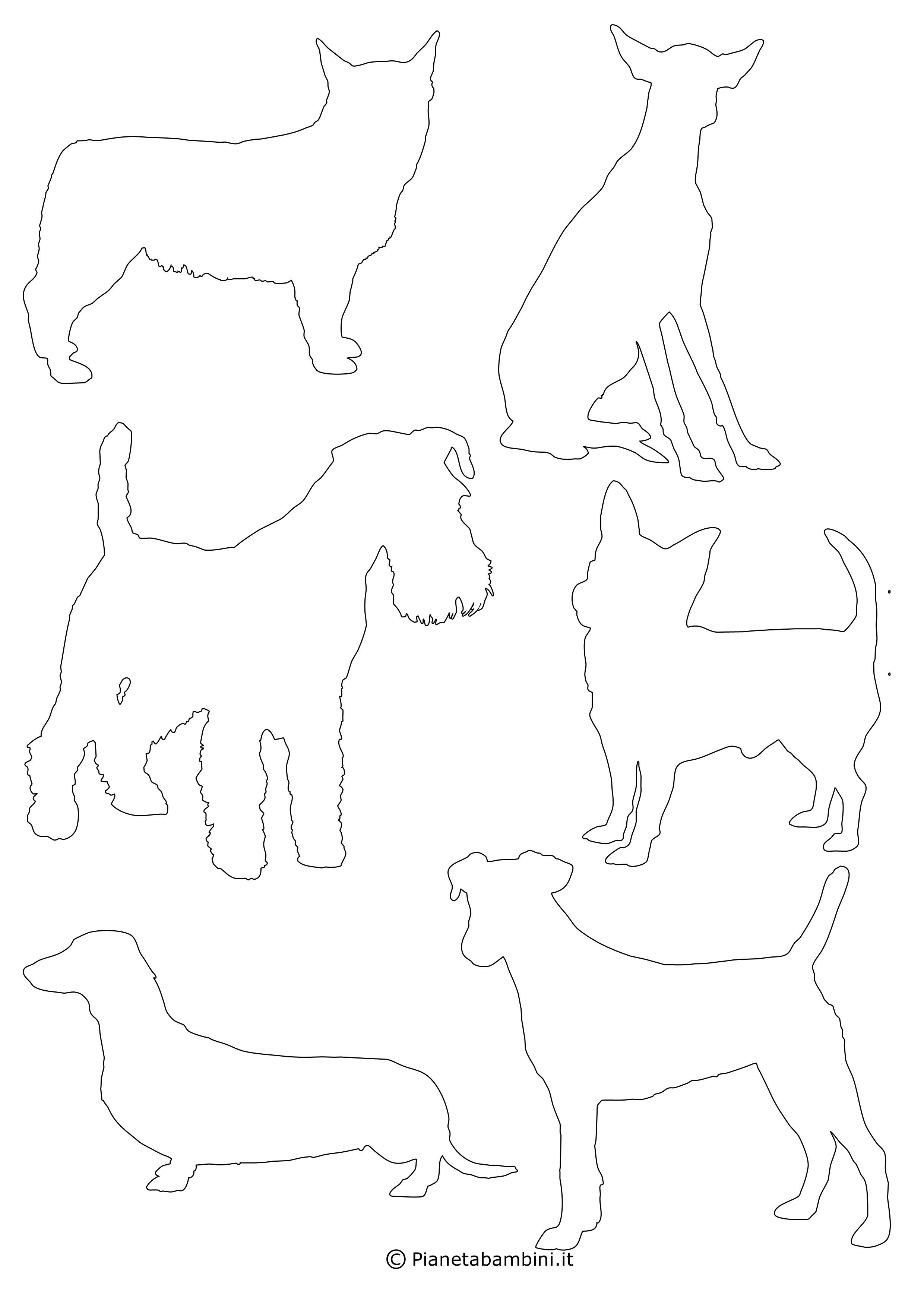 Sagome di cani piccole da ritagliare 9