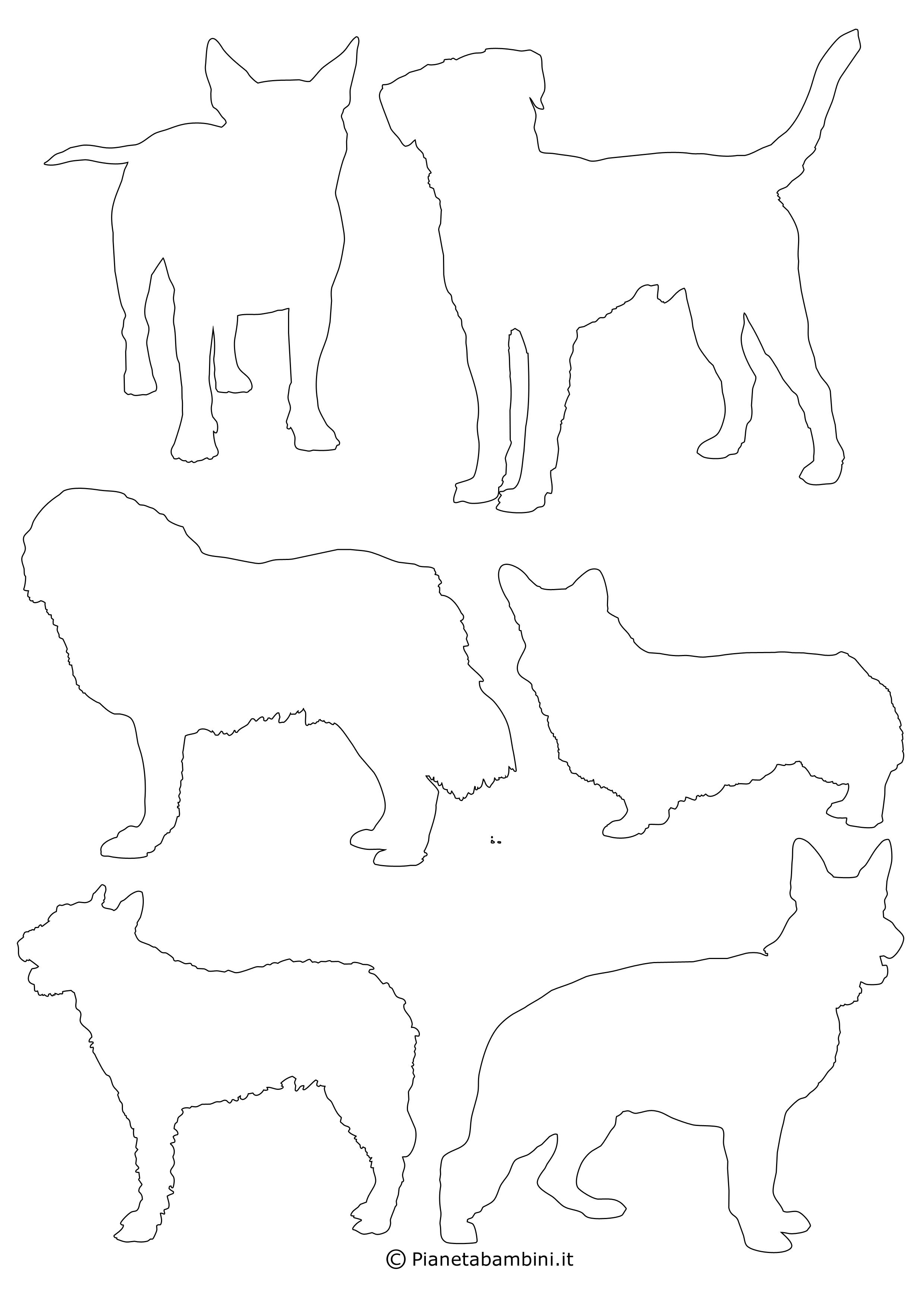 Sagome di cani piccole da ritagliare 10
