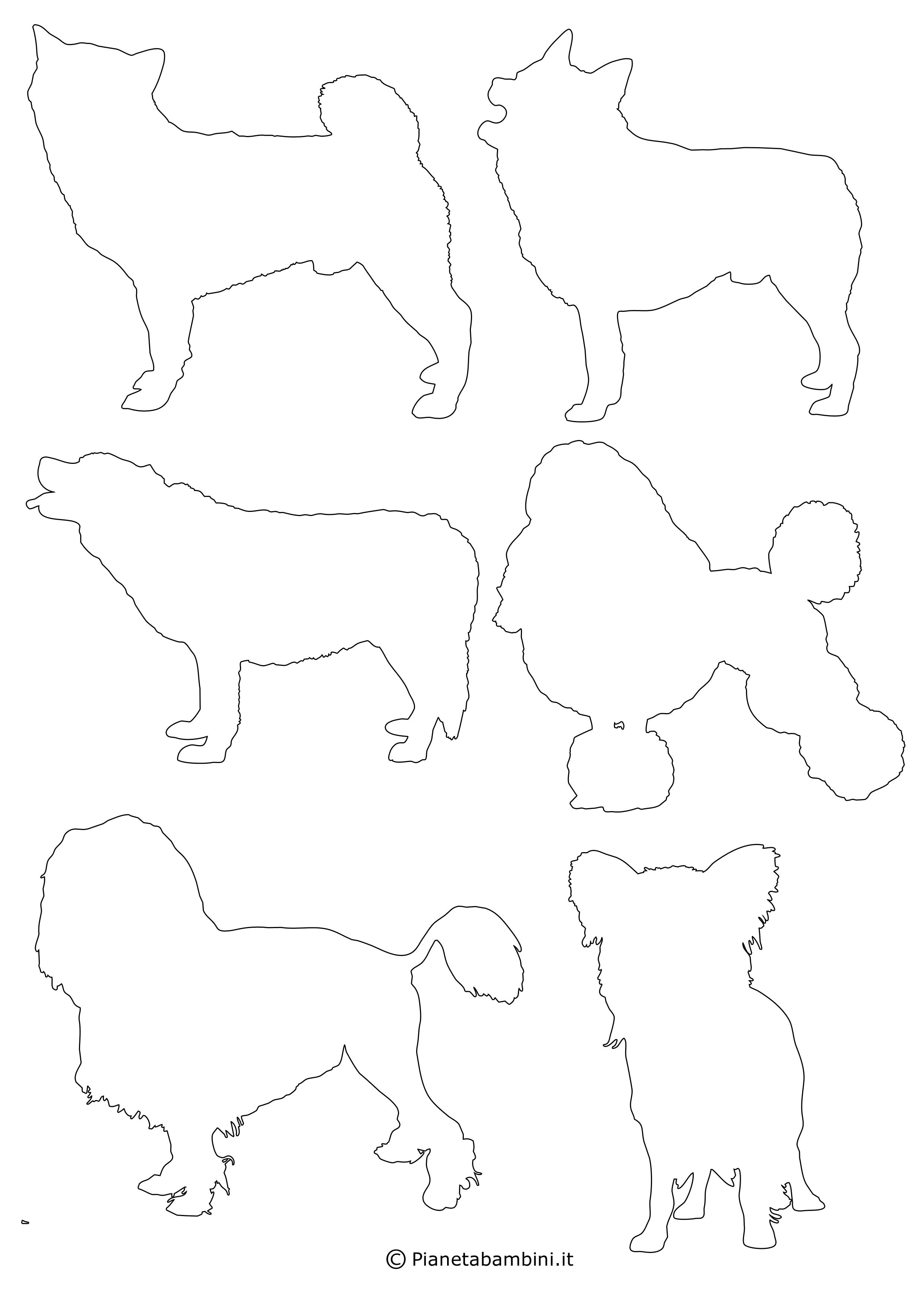 Sagome di cani piccole da ritagliare 11